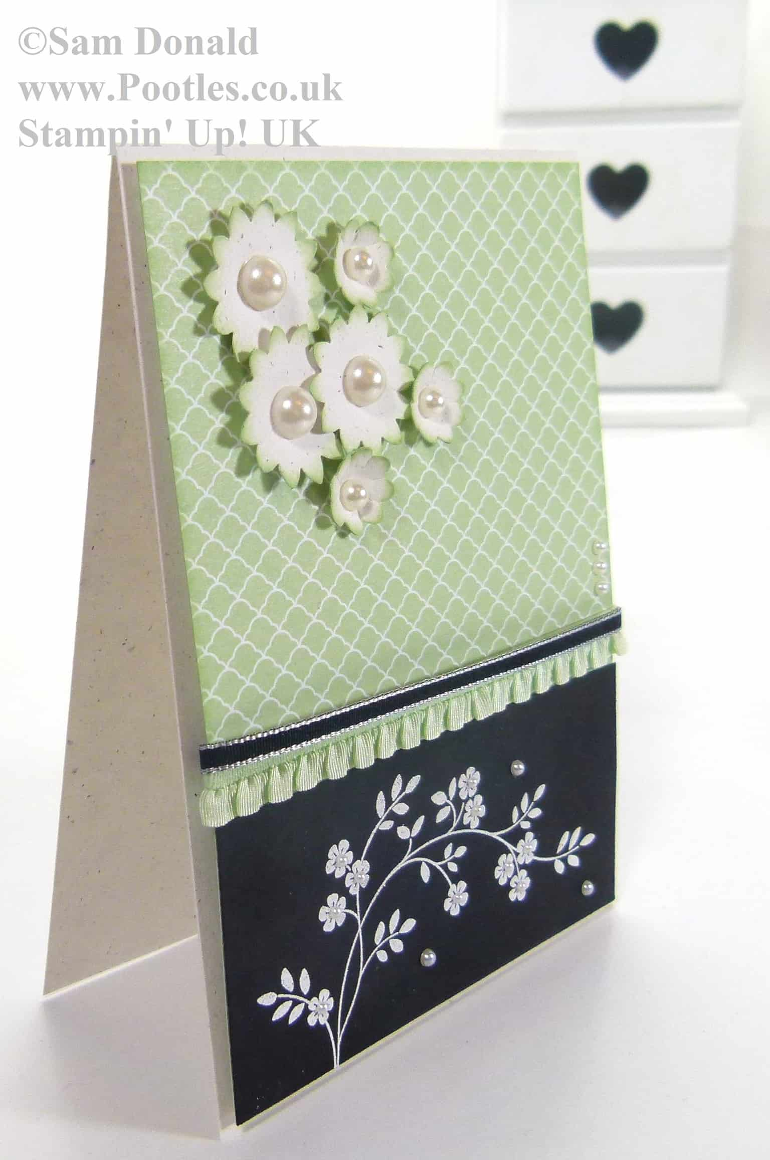Stampin' Up! UK Pistachio Pudding Heat Embossed Hopeful Thoughts 3