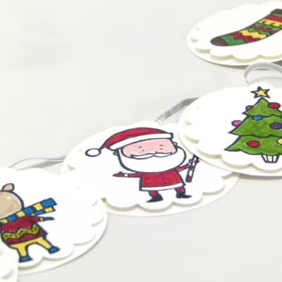 ADVENT COUNTDOWN 24 Mini Christmas Banners