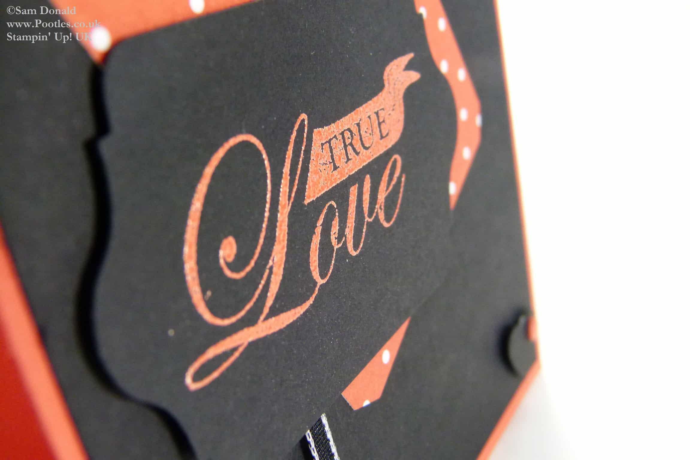 POOTLES Stampin Up UK Brights Week Manly Tangerine Tango Valentine Card 2