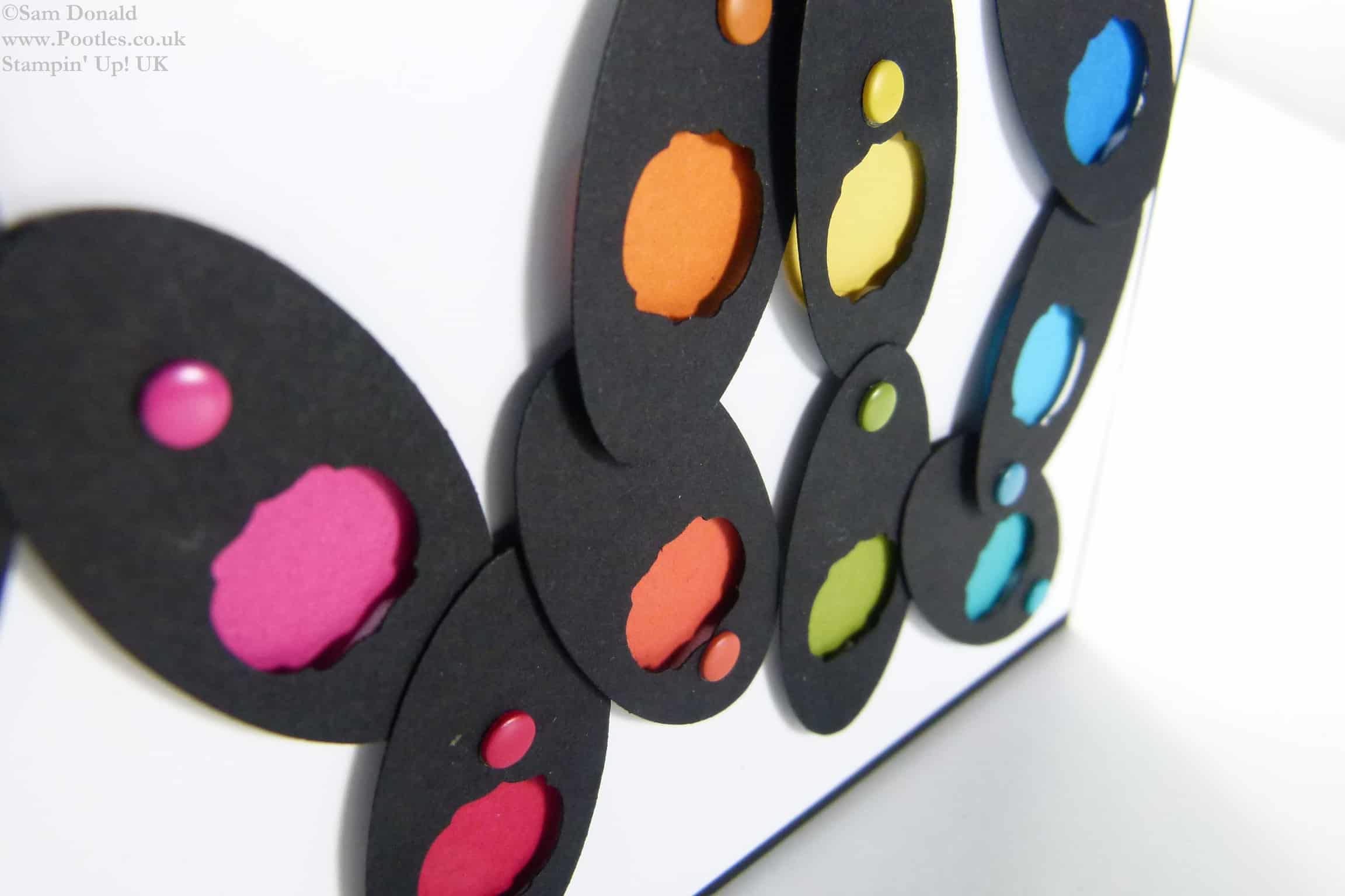 POOTLES Stampin Up UK Brights Week - Multi Coloured Punch Showcase