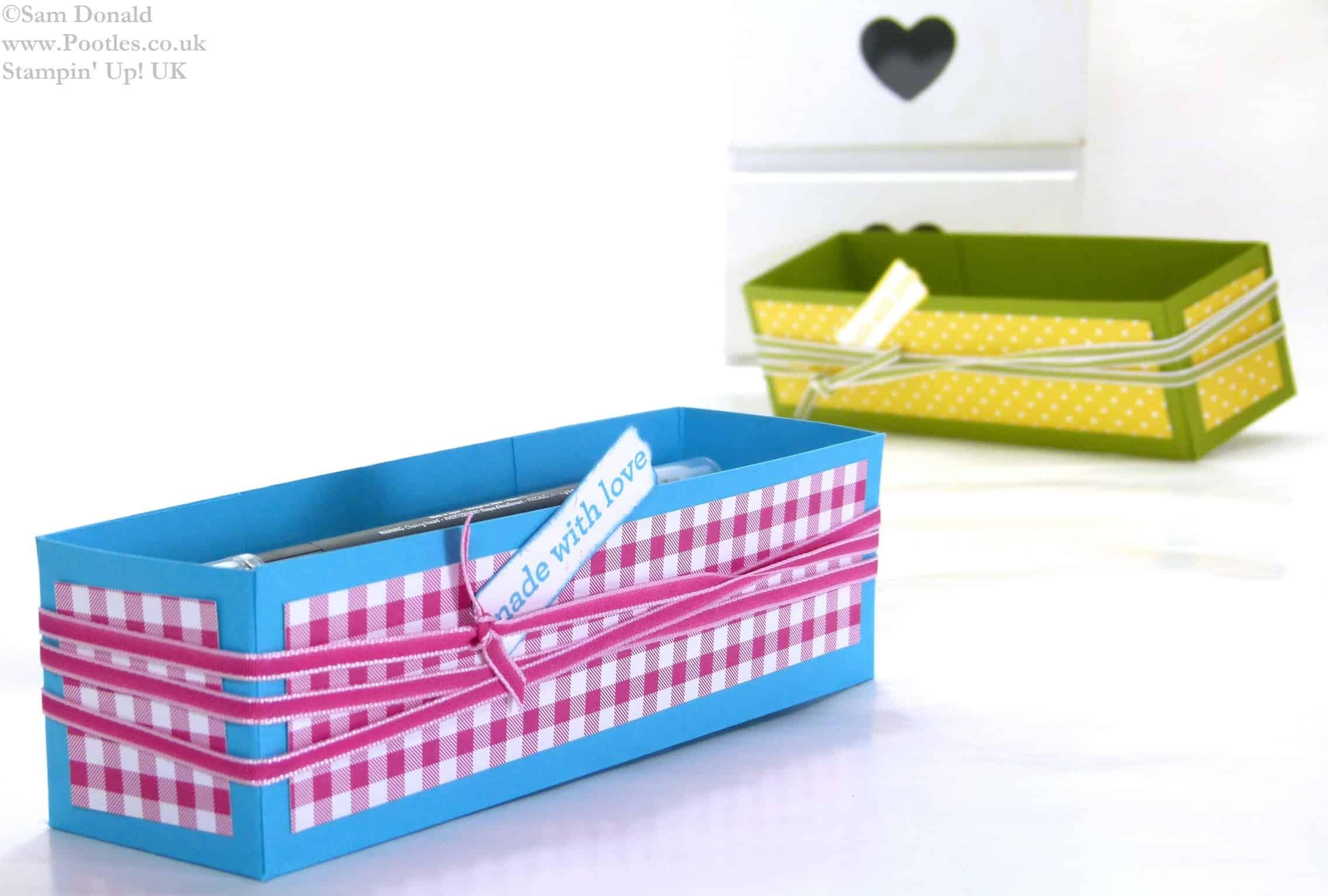 POOTLES Stampin Up UK Brights Week Pen Caddy Gift Box 3