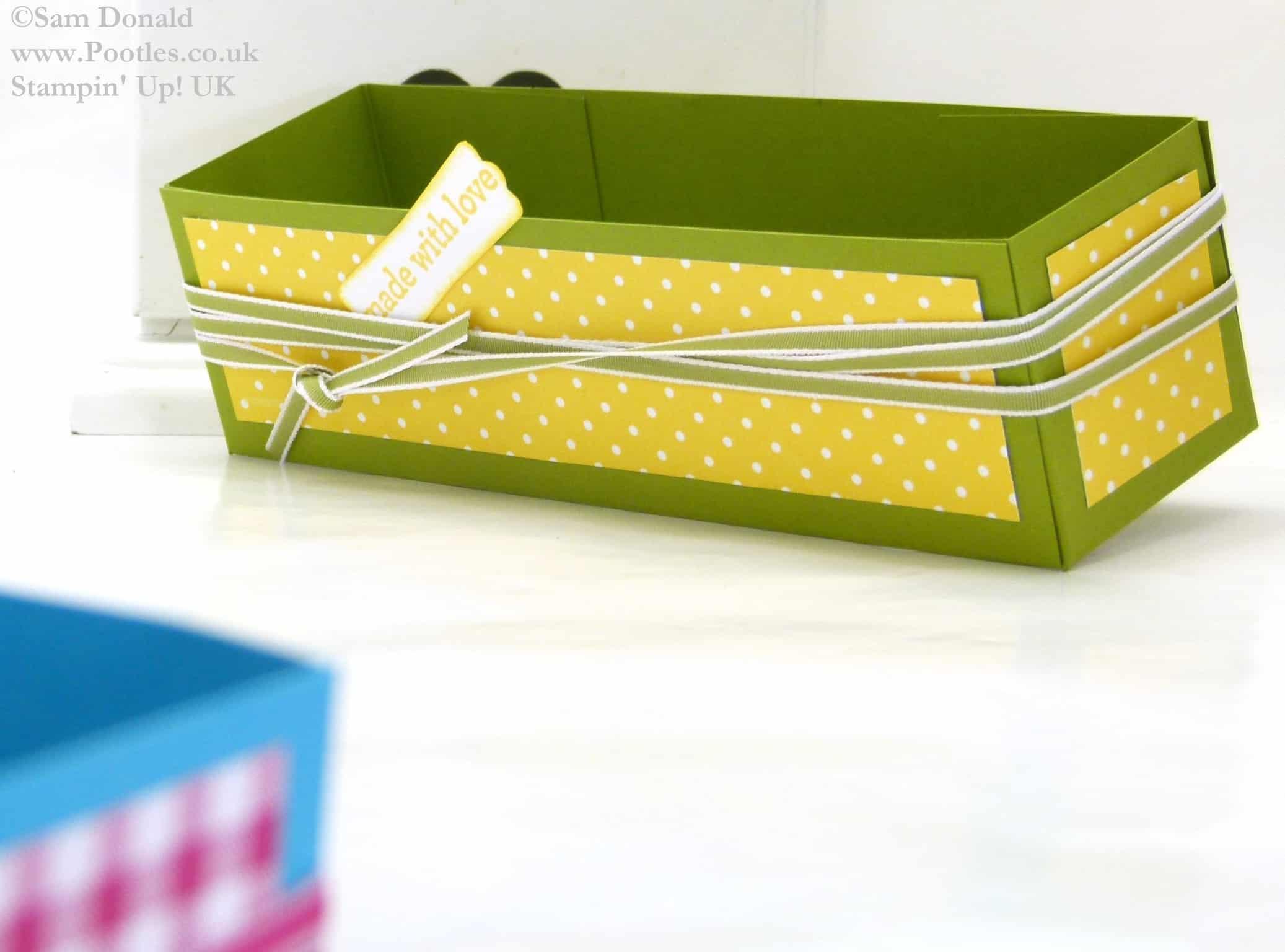 POOTLES Stampin Up UK Brights Week Pen Caddy Gift Box