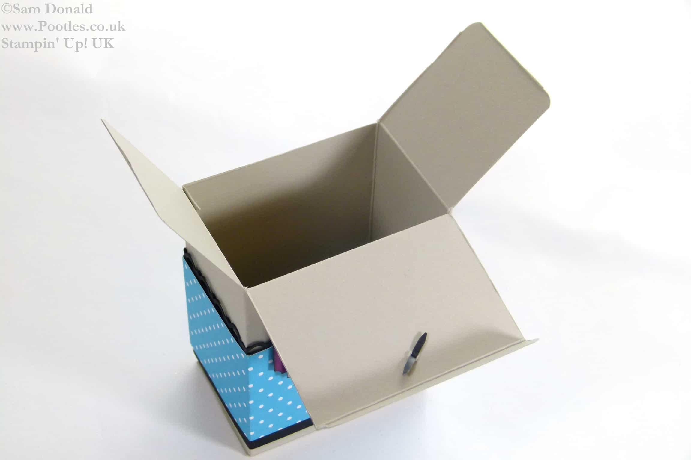 POOTLES Stampin Up UK Colour Clash Gift Box Tutorial