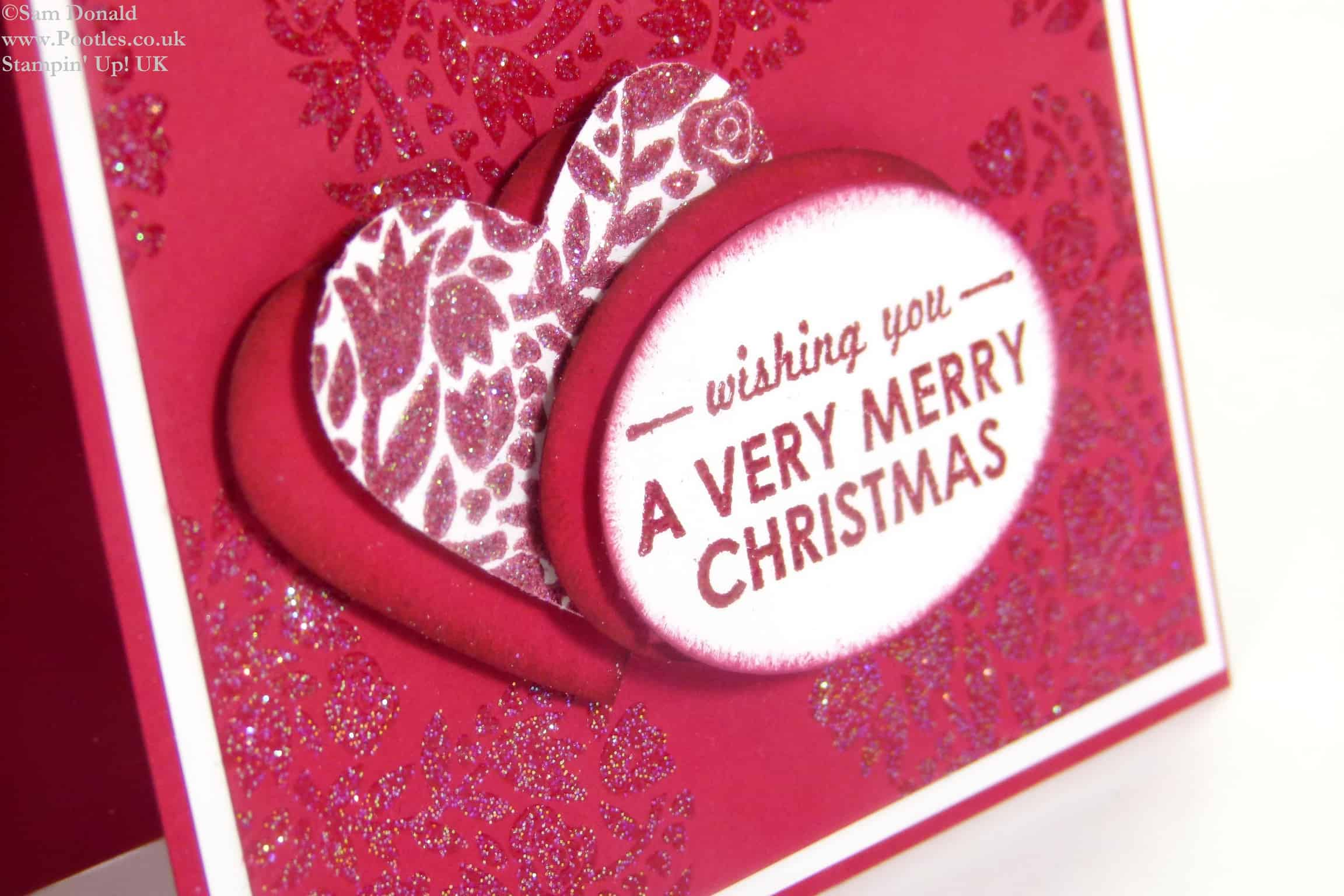 POOTLES Stampin Up UK Flowerfull Christmas Heart 3
