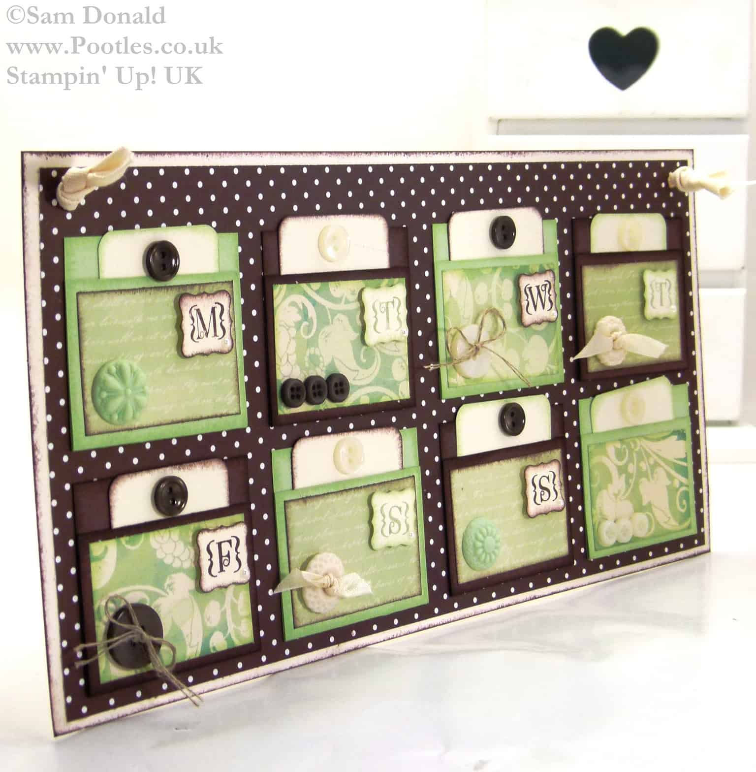 POOTLES Stampin Up UK Handmade Gift Weekly Goal Chart 7