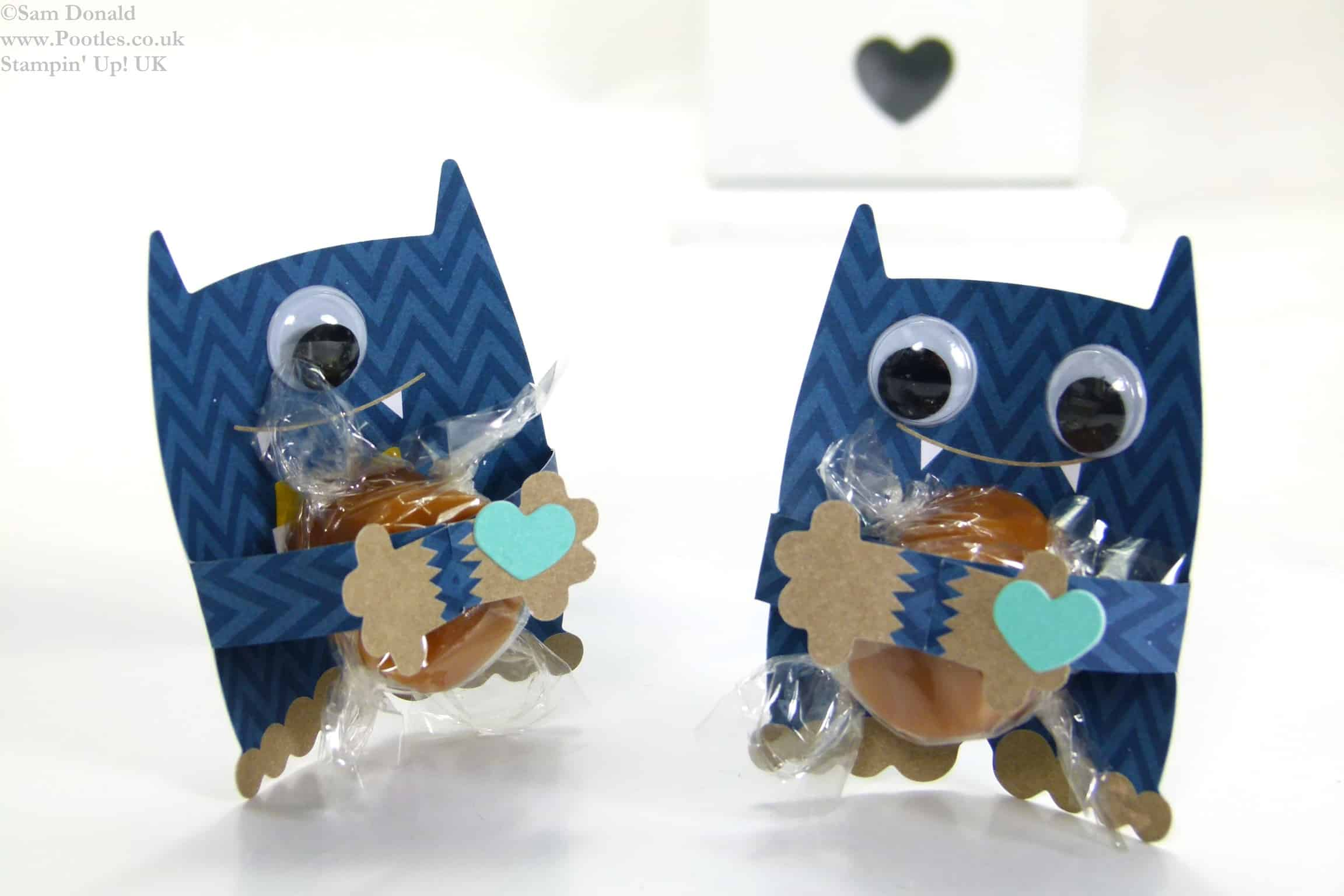 POOTLES Stampin Up UK Mini Monster Hugs Table Favours 2