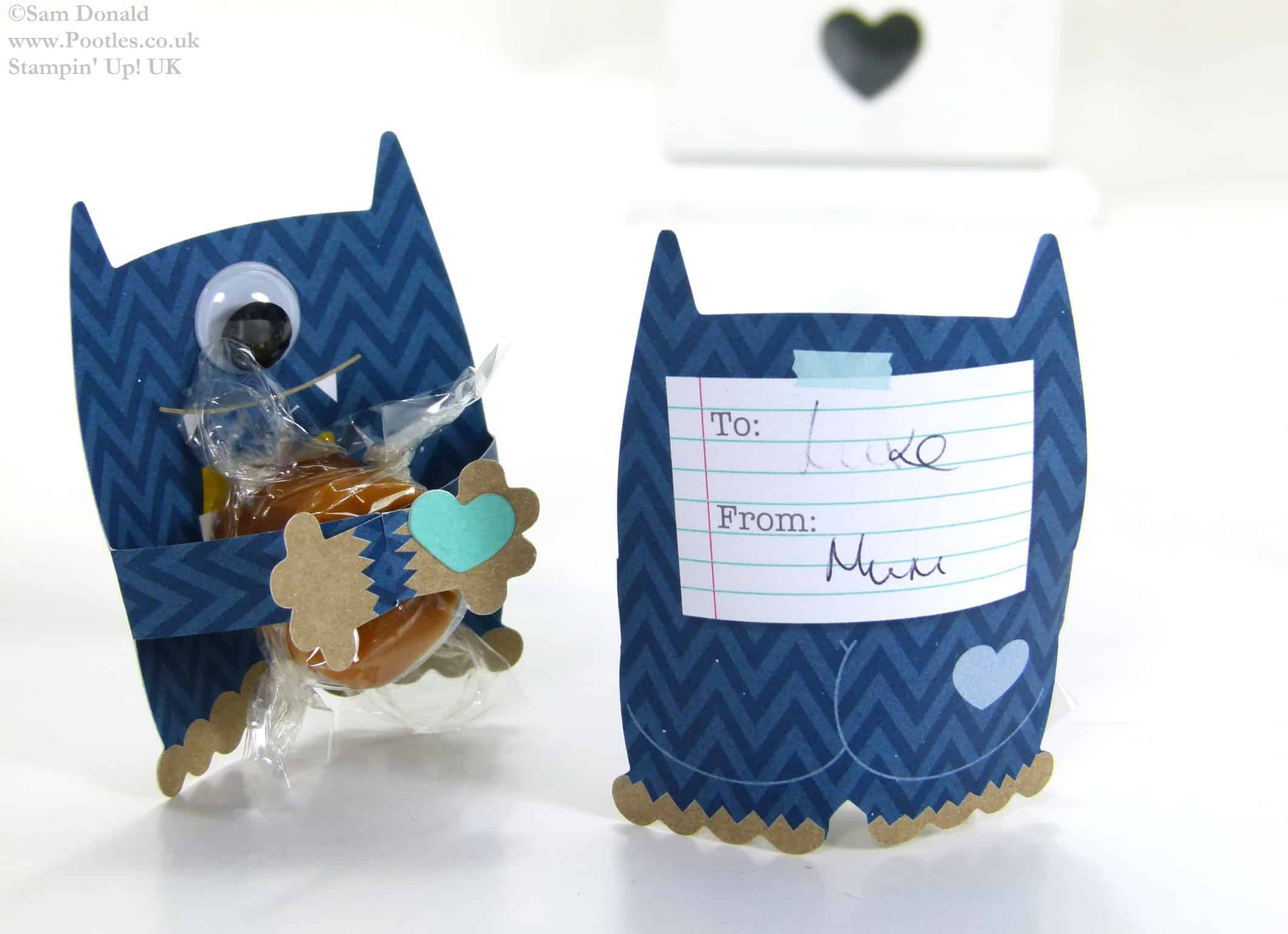 POOTLES Stampin Up UK Mini Monster Hugs Table Favours