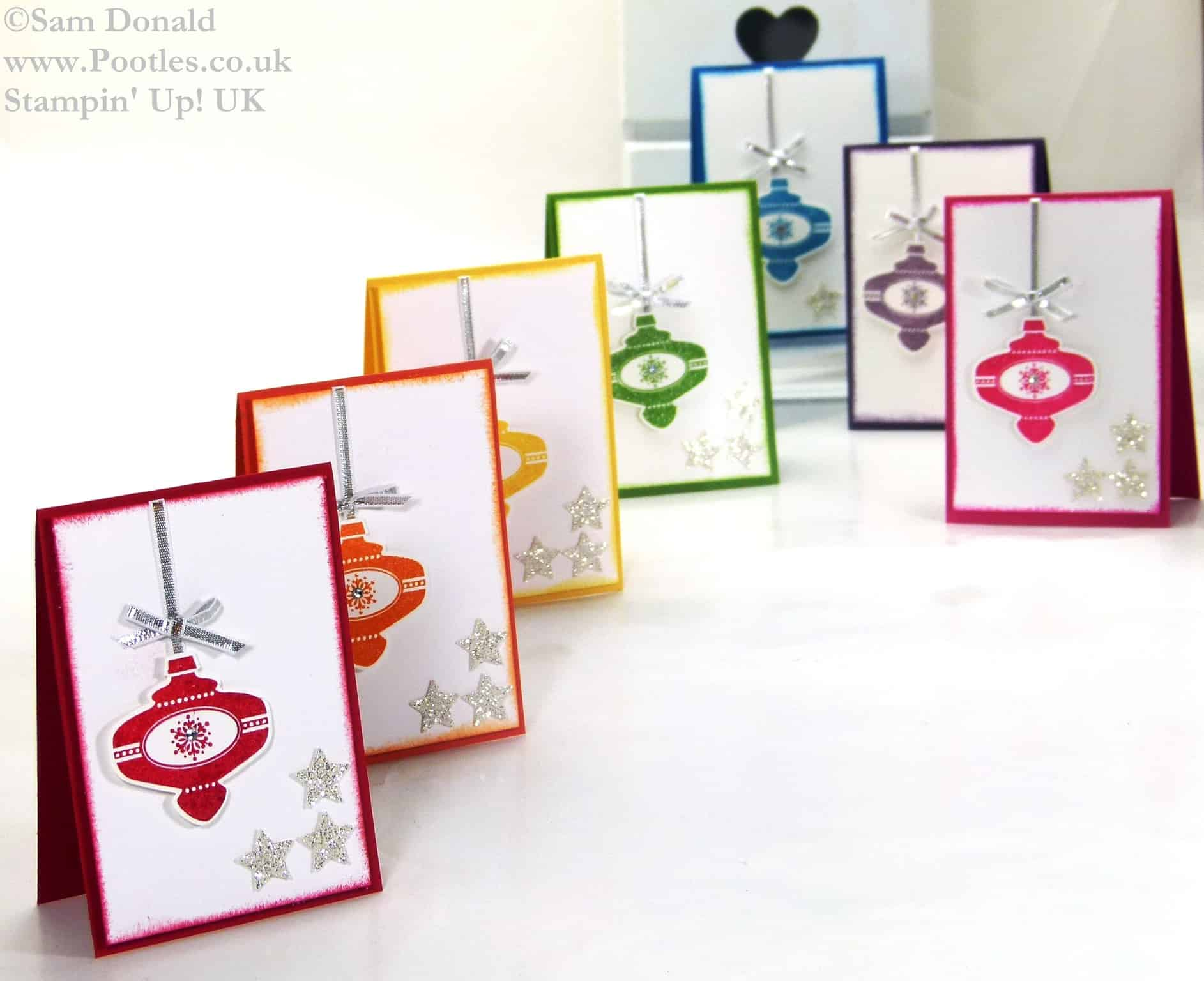 Pootles Stampin Up UK Mini Retro Multicoloured Christmas Collectibles