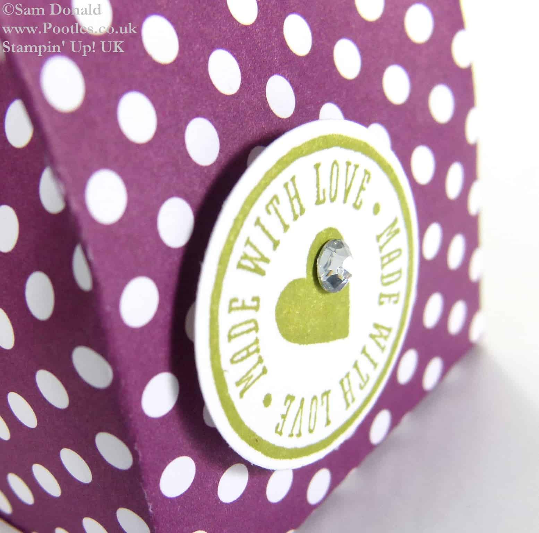 POOTLES Stampin Up UK Polka Dot Parade 6 bags from one sheet DSP