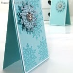POOTLES Stampin Up UK Silver Embossed Festive Flurries 2