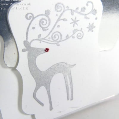Silver Foil Mini Christmas Card