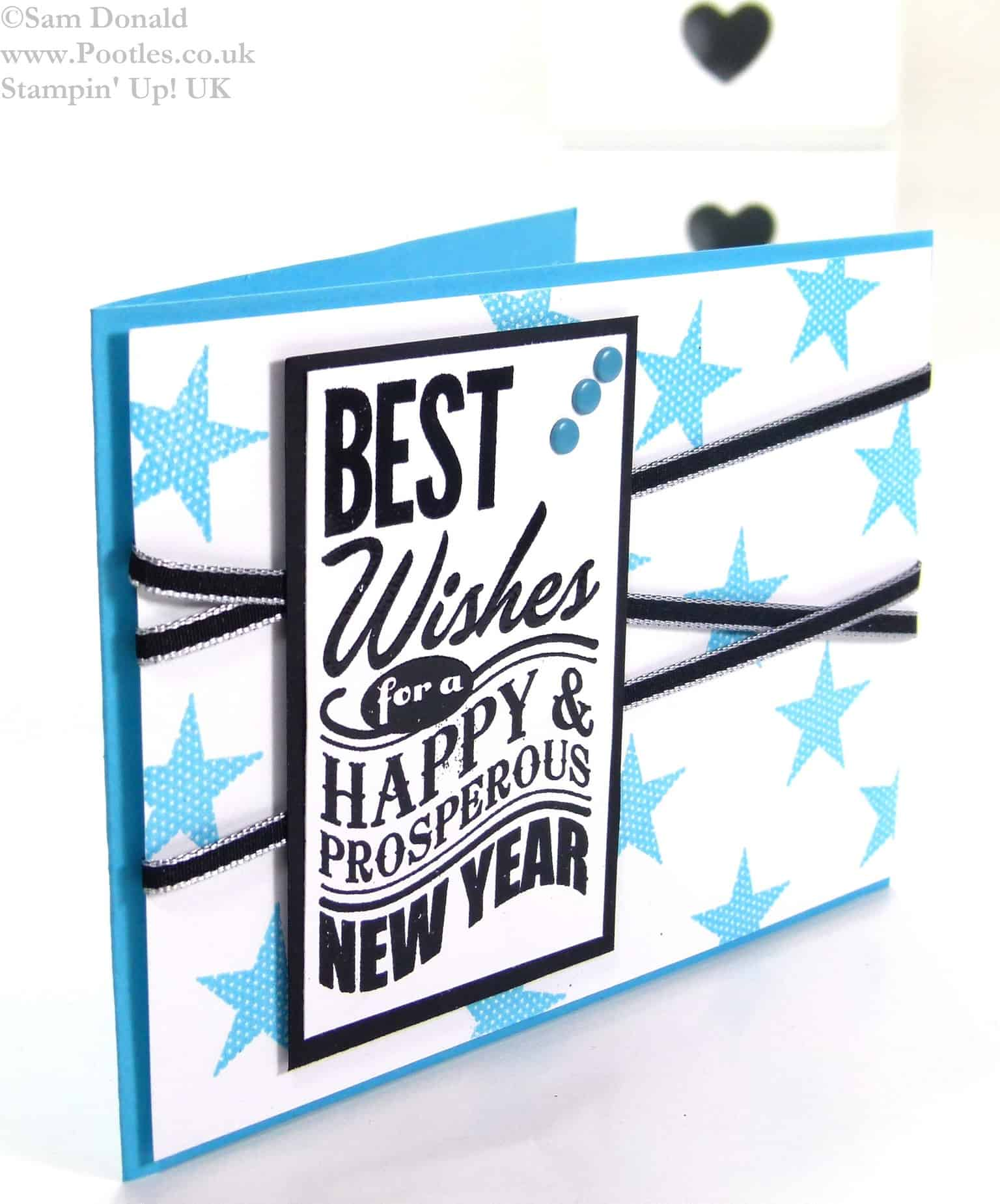 POOTLES Stampin Up UK Tempting Turquoise Best New Year 3