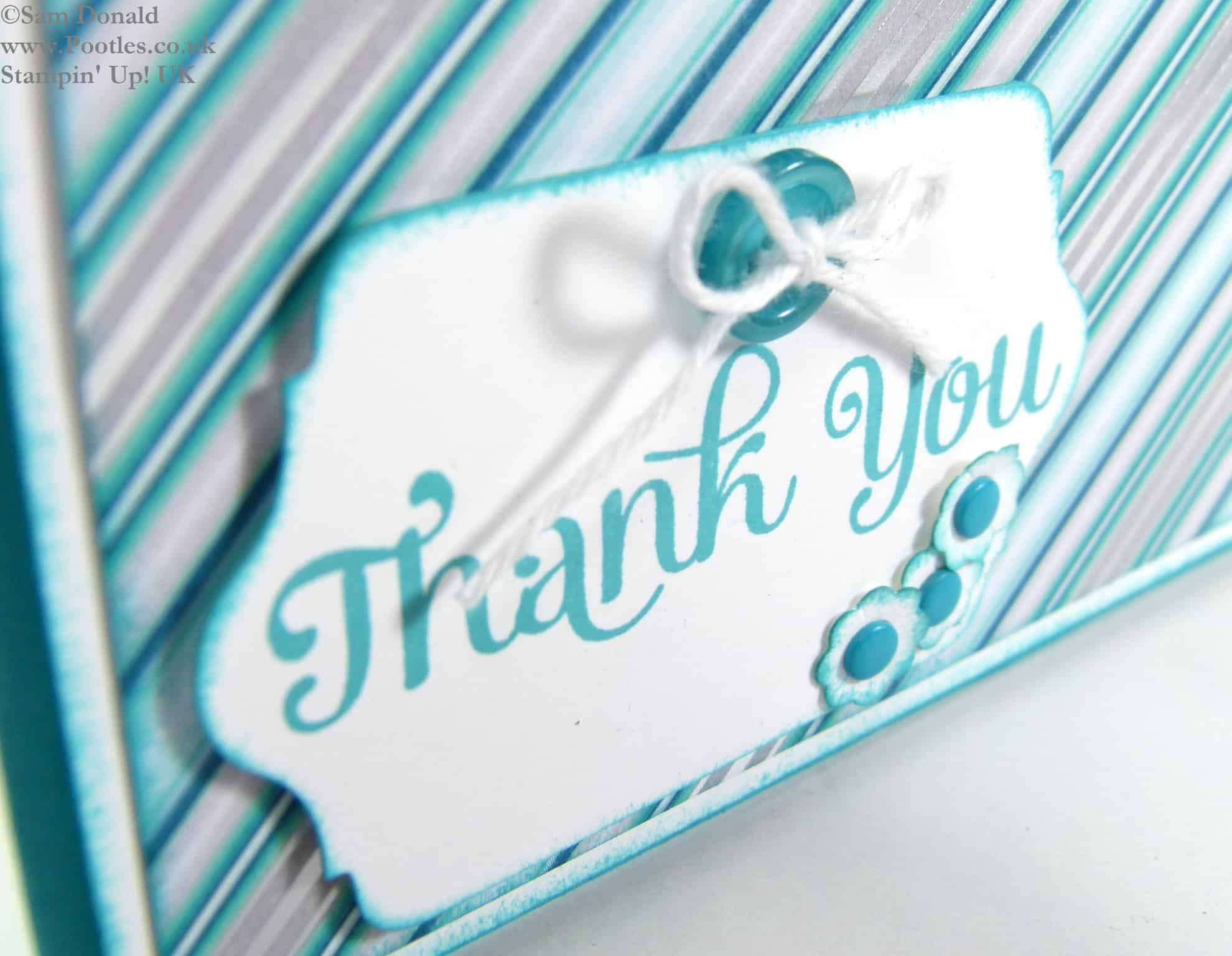 POOTLES Stampin Up UK Use It Up Challenge  Winter Frost Thank You Card 2