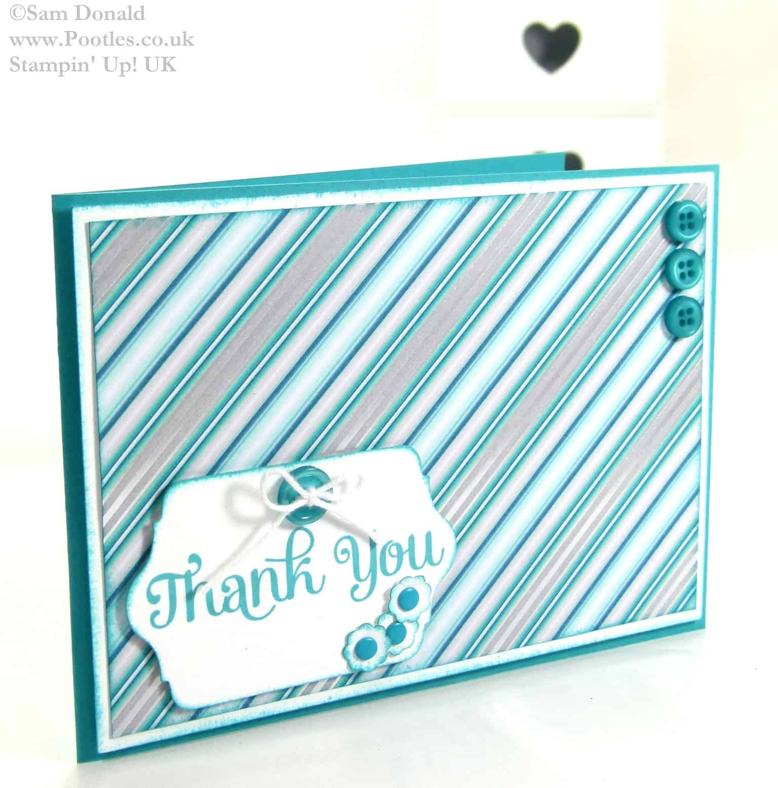 POOTLES Stampin Up UK Use It Up Challenge  Winter Frost Thank You Card