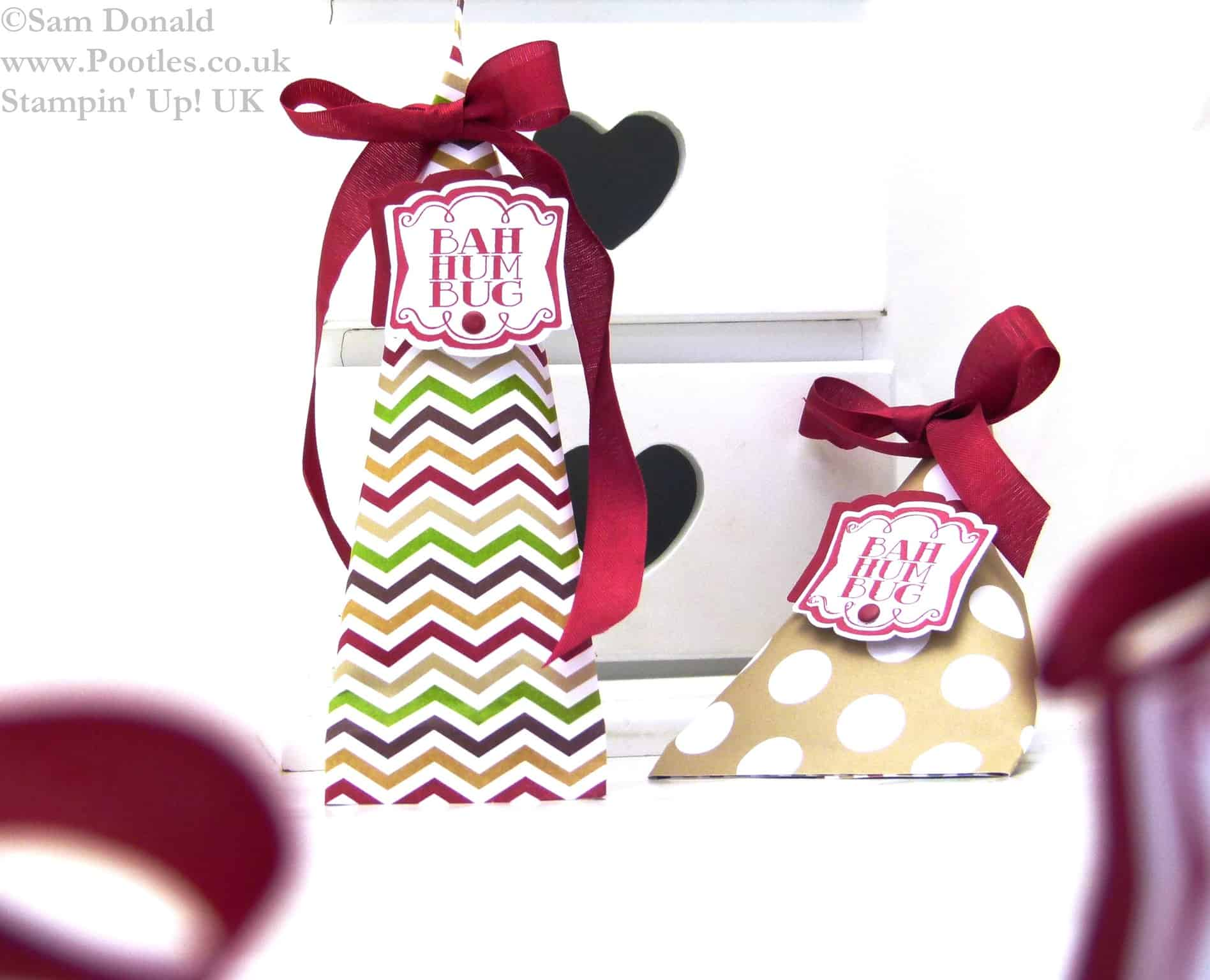 Stampin Up UK ADVENT COUNTDOWN 22 Elongated Sweetie Treat Pouches