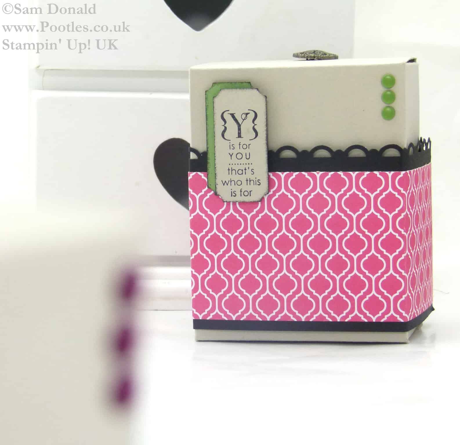 Stampin Up UK Colour Clash Gift Box Tutorial 2