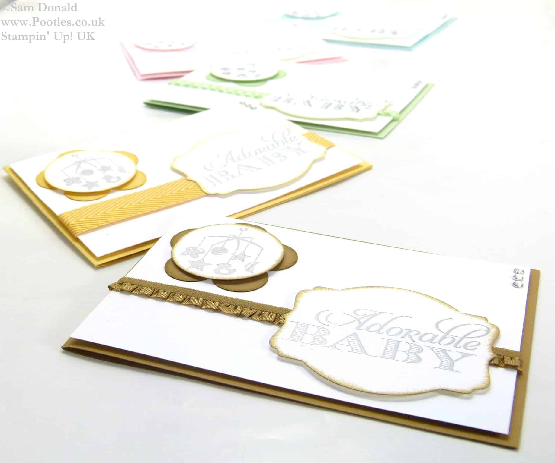 POOTLES Stampin Up UK Baby, the Sweetest Gift