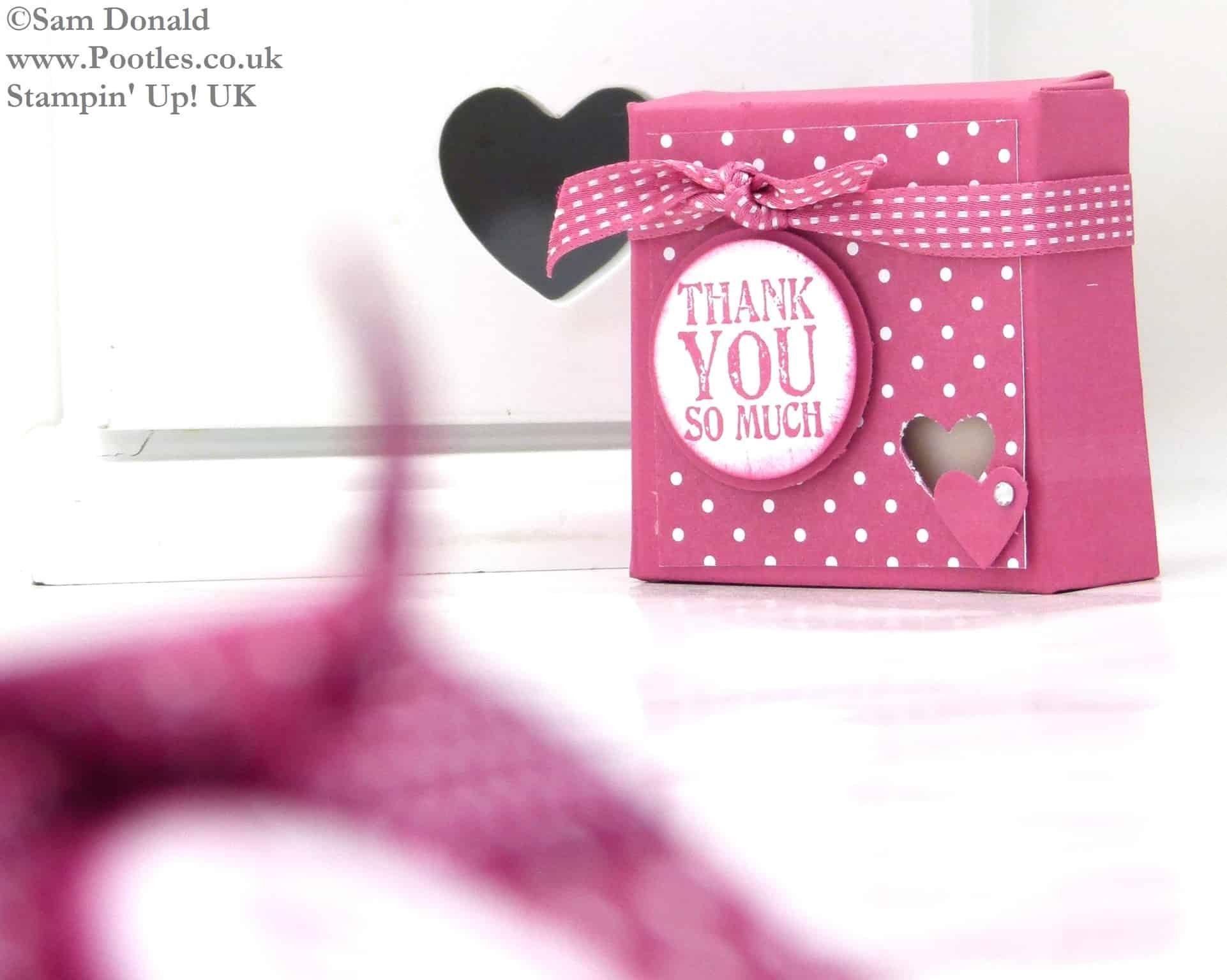 POOTLES Stampin Up UK Fold Flat Wax Melt Favour Box Tutorial 2