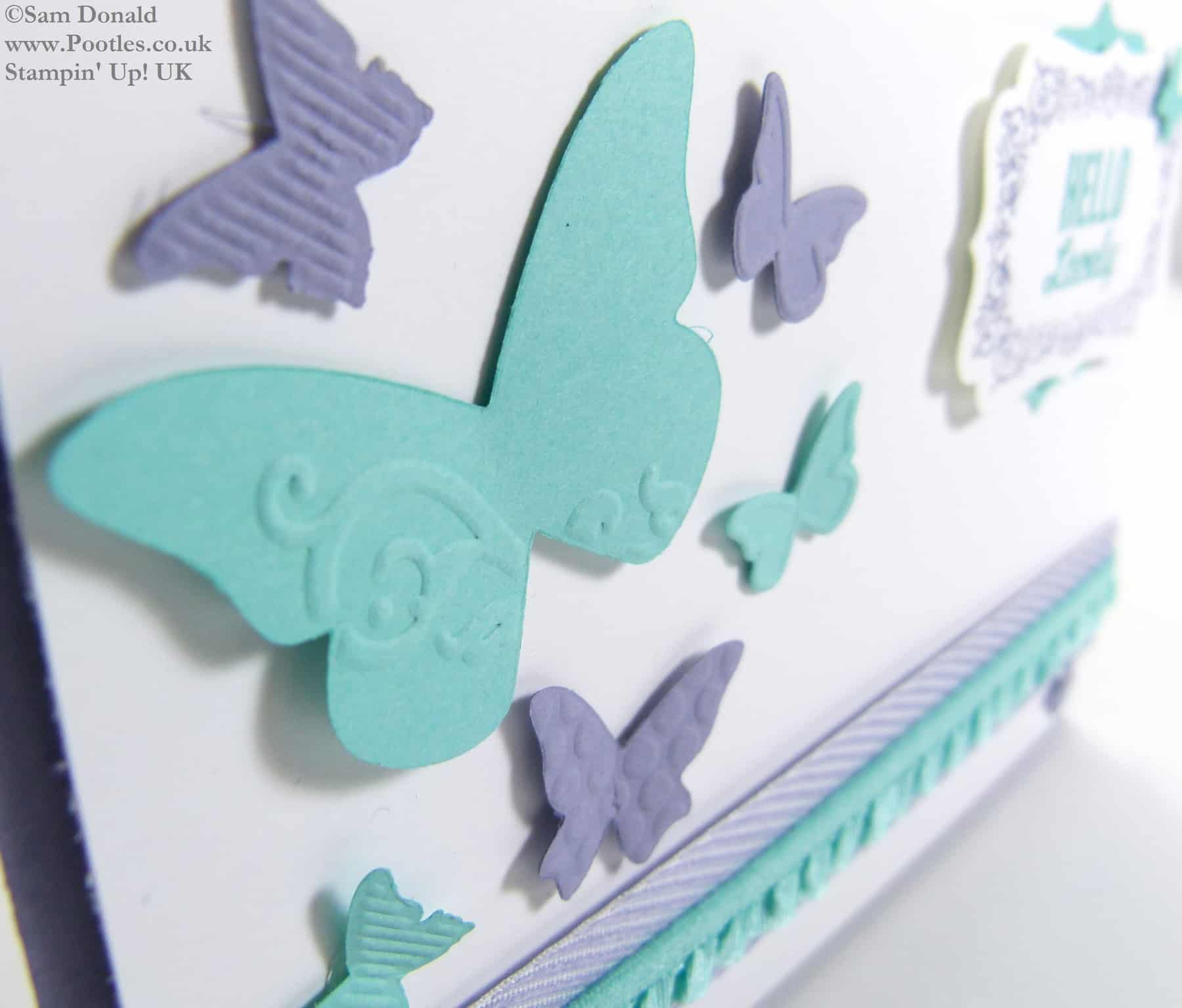 POOTLES Stampin Up UK Hello Lovely Embosslit Butterflies and Card Giveaway 2