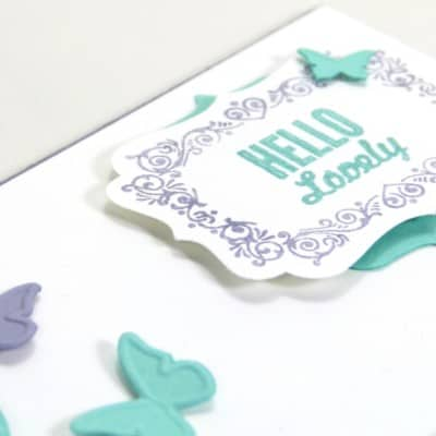 Hello Lovely Embosslit Butterflies and Card Giveaway