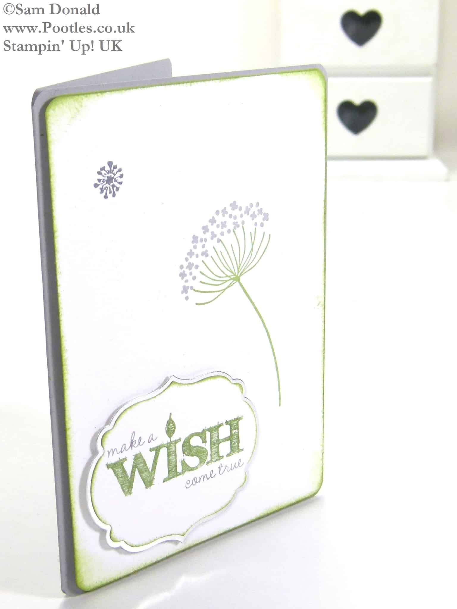 POOTLES Stampin Up UK Serene Silhouettes Make a Wish 3