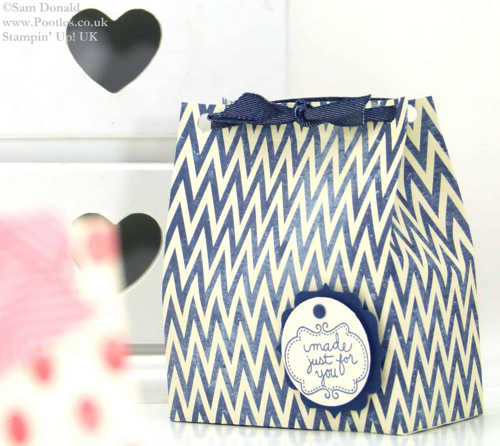 POOTLES Stampin Up UK Soap Gift Treat Bag Tutorial 2