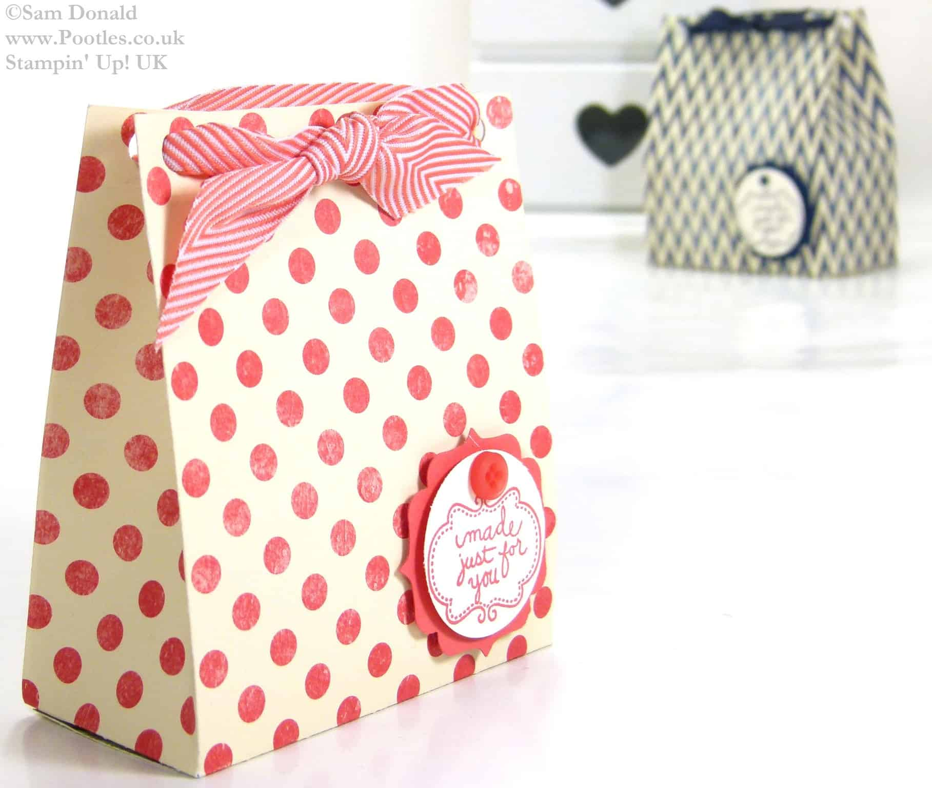POOTLES Stampin Up UK Soap Gift Treat Bag Tutorial 3