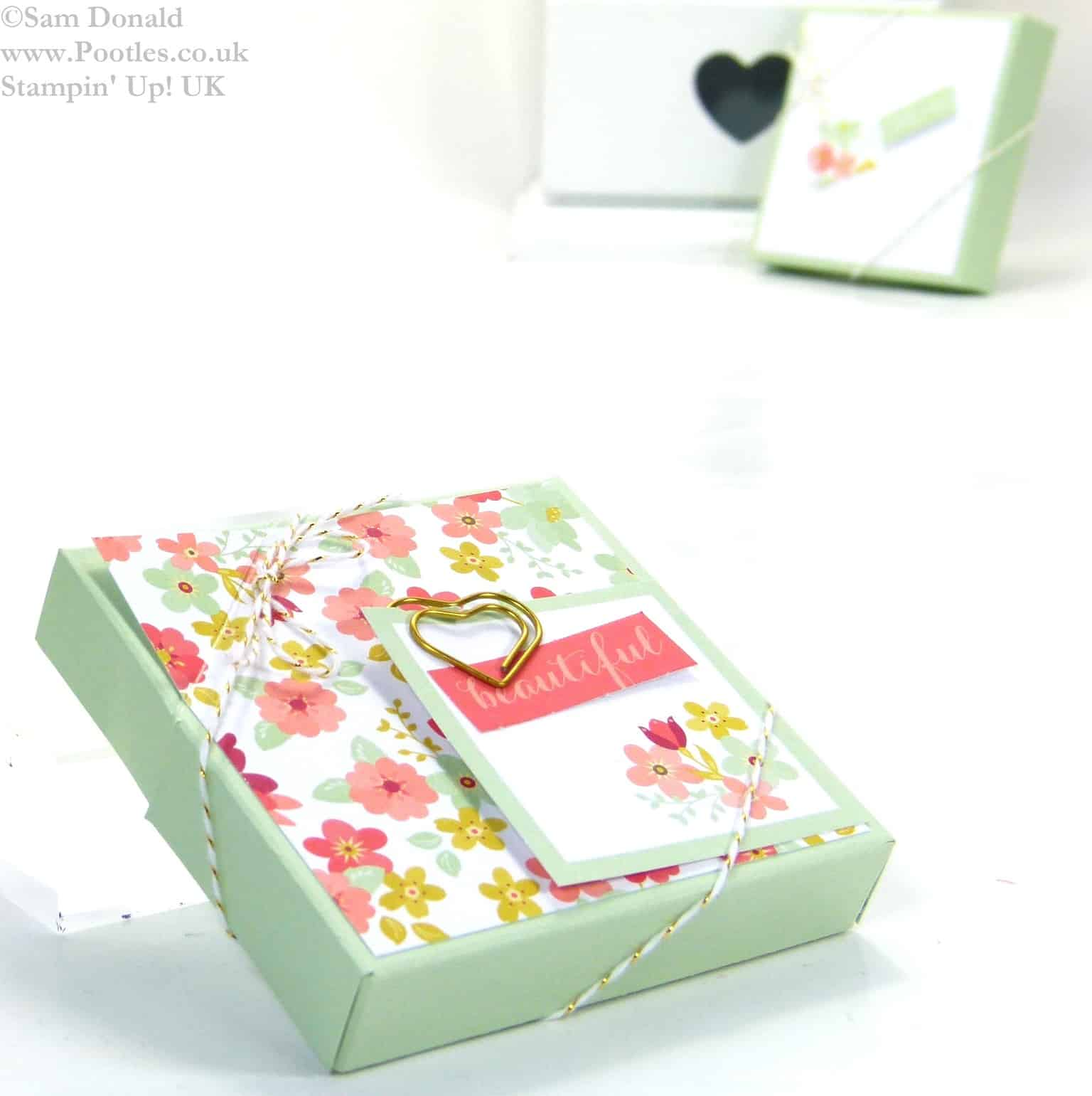 POOTLES Stampin Up UK SPRINGWATCH Diamond Opening Tea Light Box Tutorial 3
