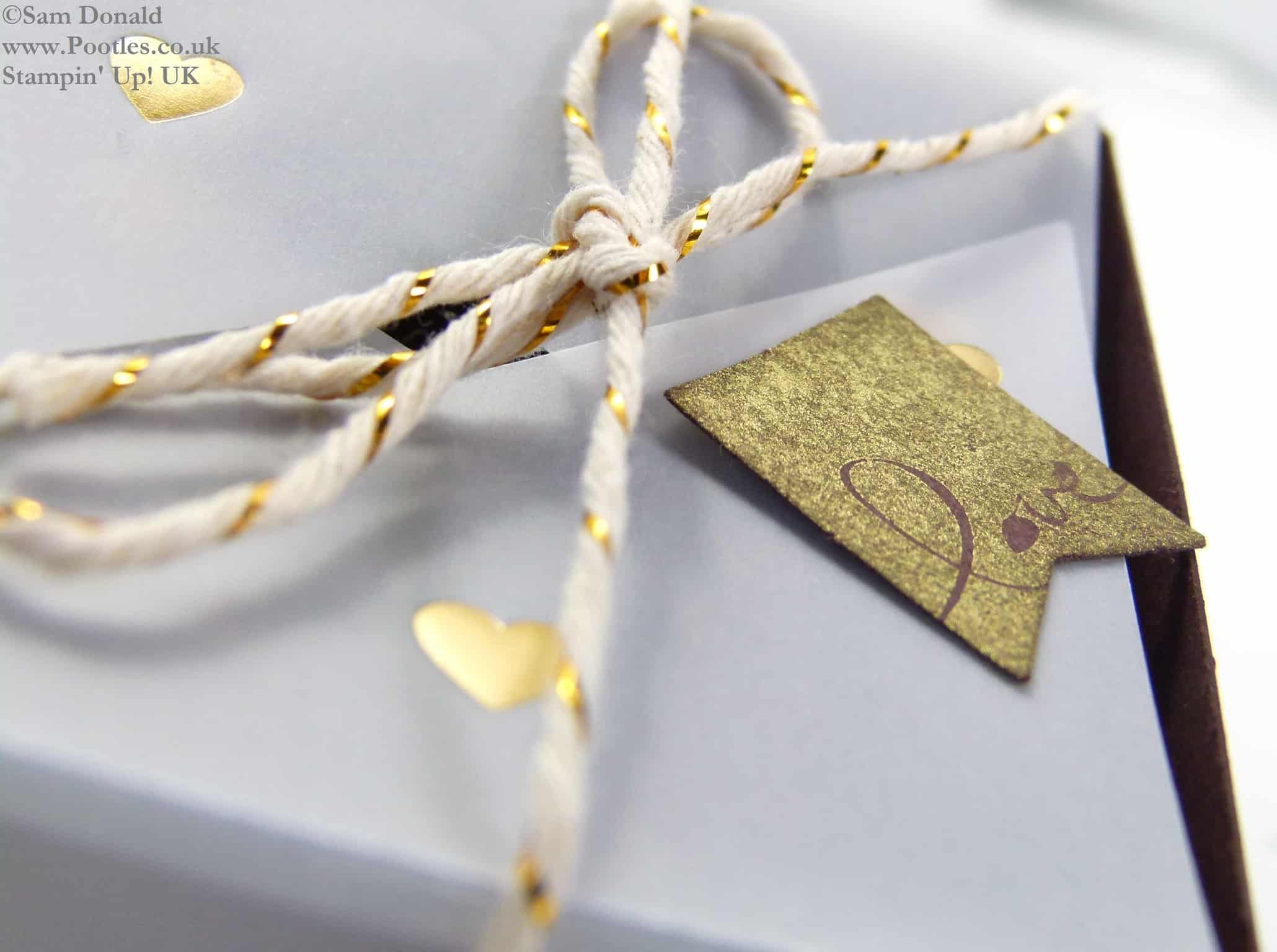 POOTLES Stampin Up UK SPRINGWATCH Folded Vellum Chocolate Truffle Box Tutorial 2