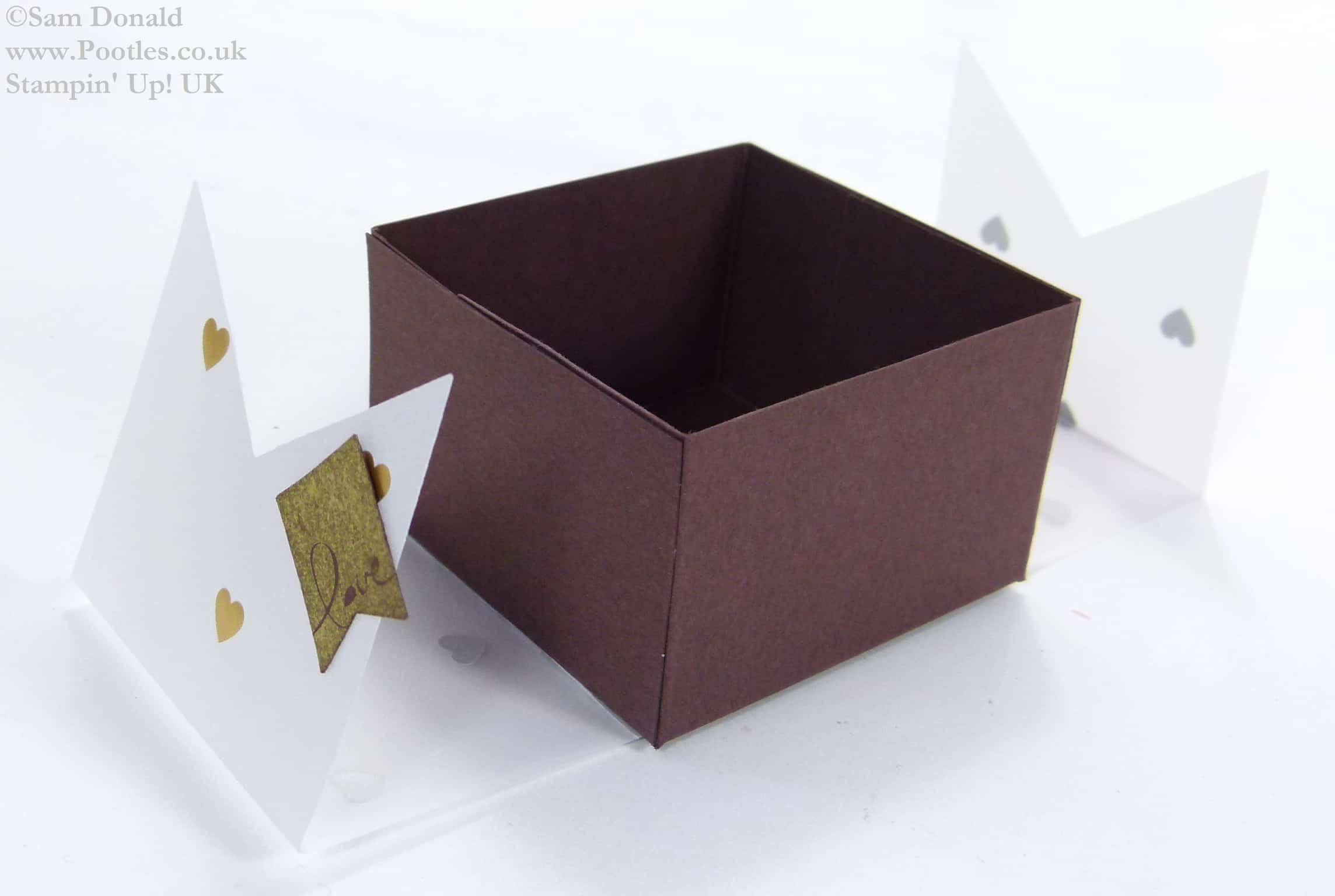 POOTLES Stampin Up UK SPRINGWATCH Folded Vellum Chocolate Truffle Box Tutorial 3