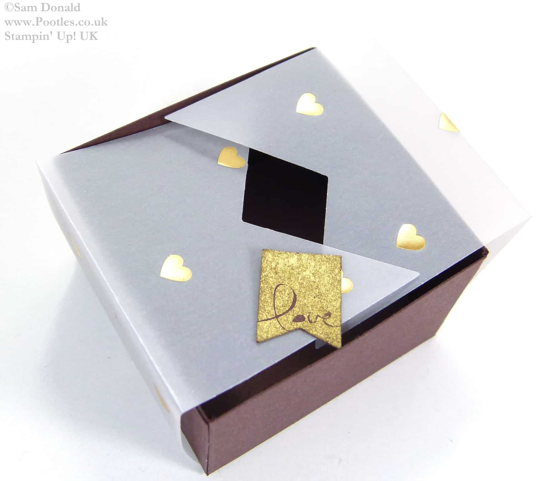 POOTLES Stampin Up UK SPRINGWATCH Folded Vellum Chocolate Truffle Box Tutorial 4