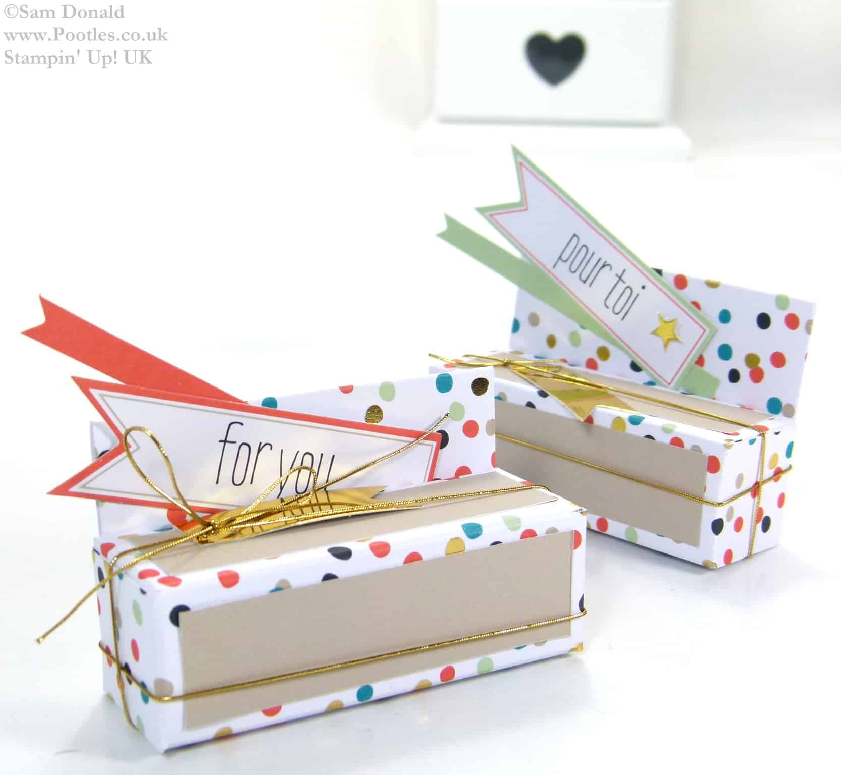 POOTLES Stampin Up UK SPRINGWATCH Lipstick Box from Sale a Bration Card Kit Video Tutorial 2
