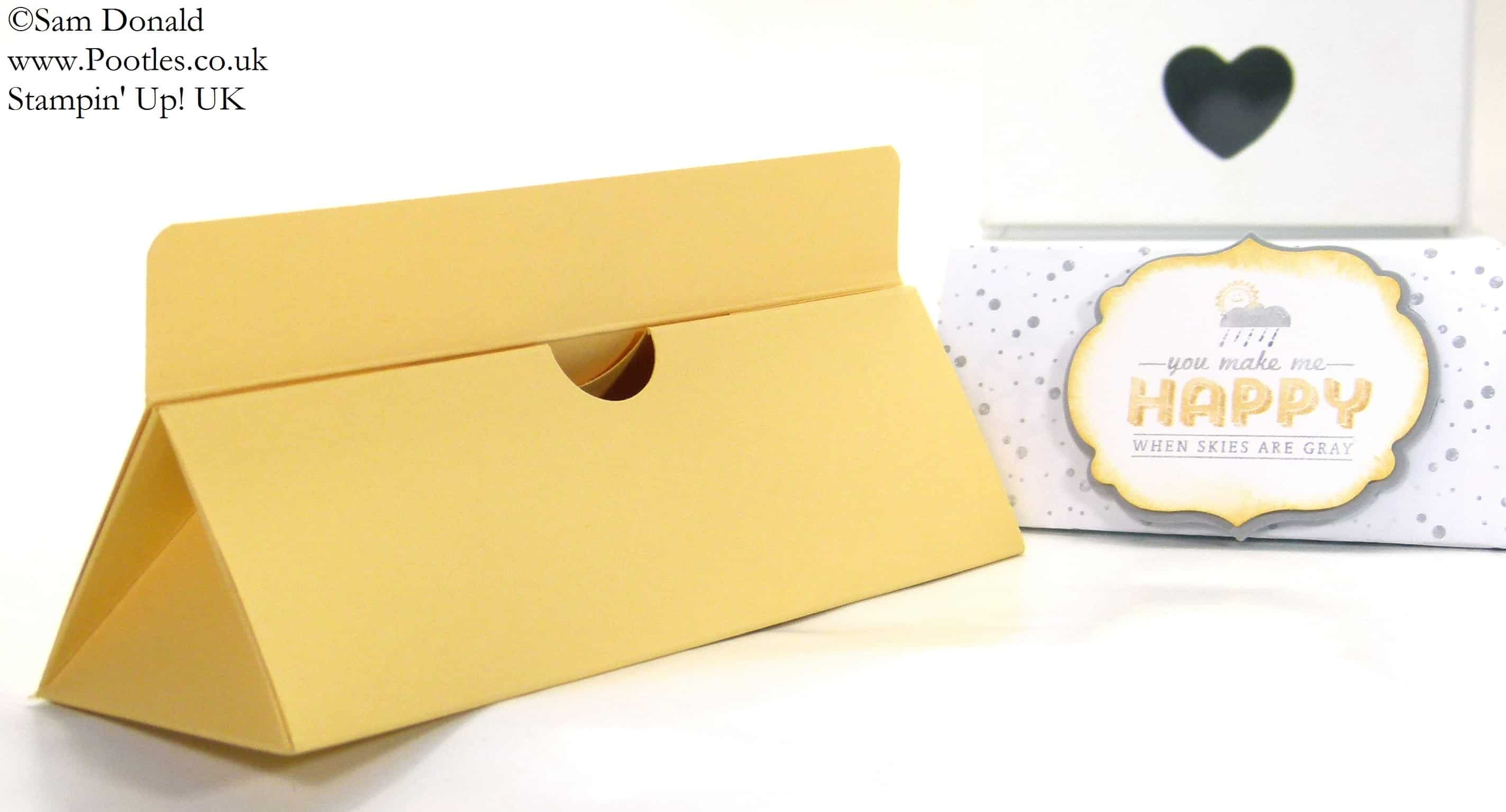 POOTLES Stampin' Up! UK 7inch (18cm)Triangular Box Tutorial 2