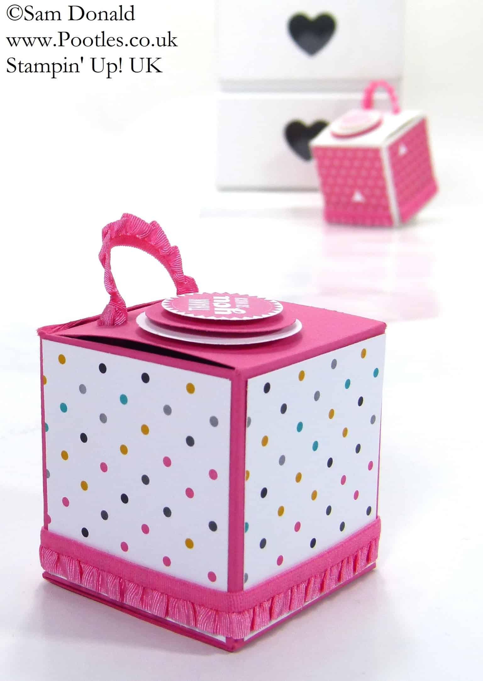 POOTLES Stampin' Up! UK Balm Jar Gift Box Tutorial 3
