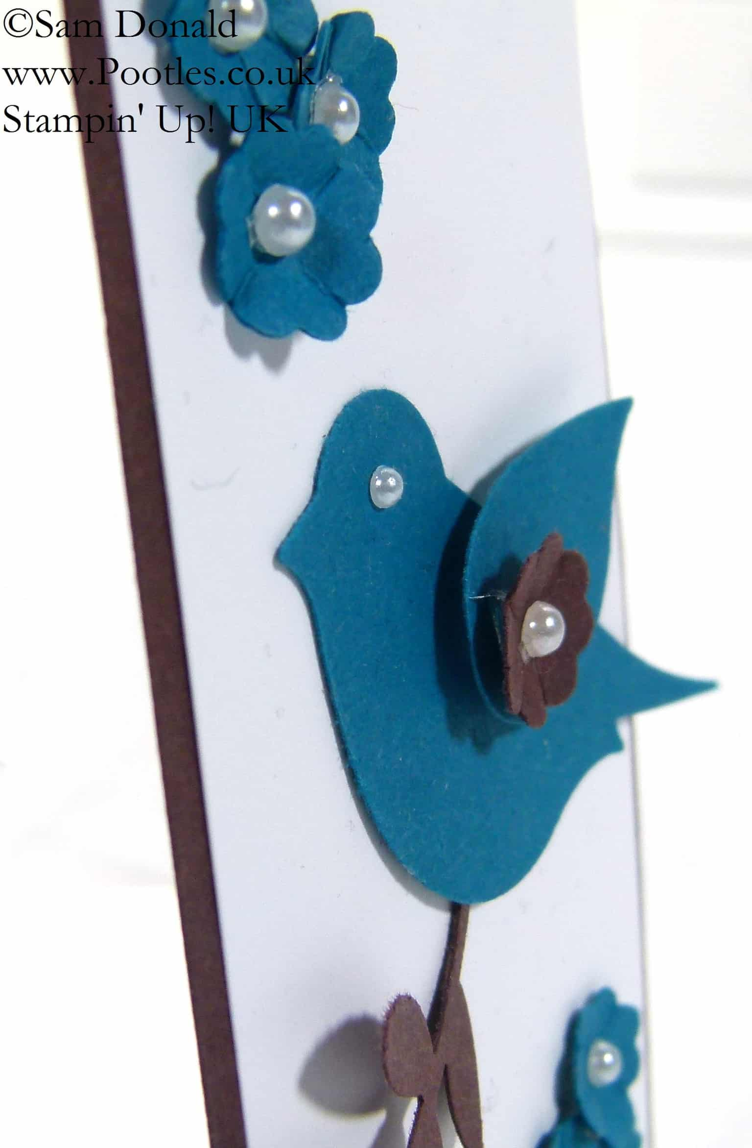 Bird Builder Punch meets the Scalloped Tag Topper Punch!