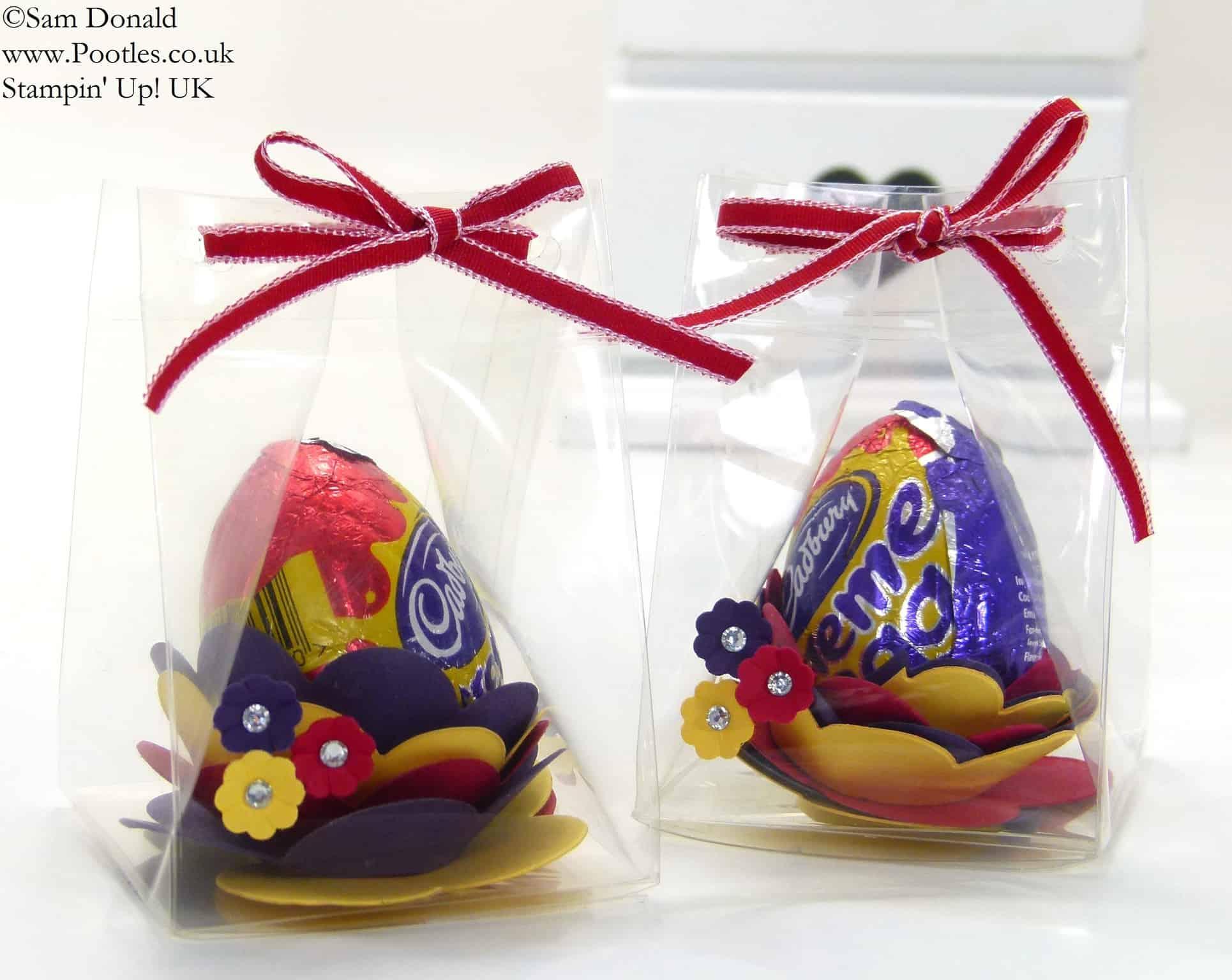 Easter Egg Spiral Flower Die Clear Box Tutorial