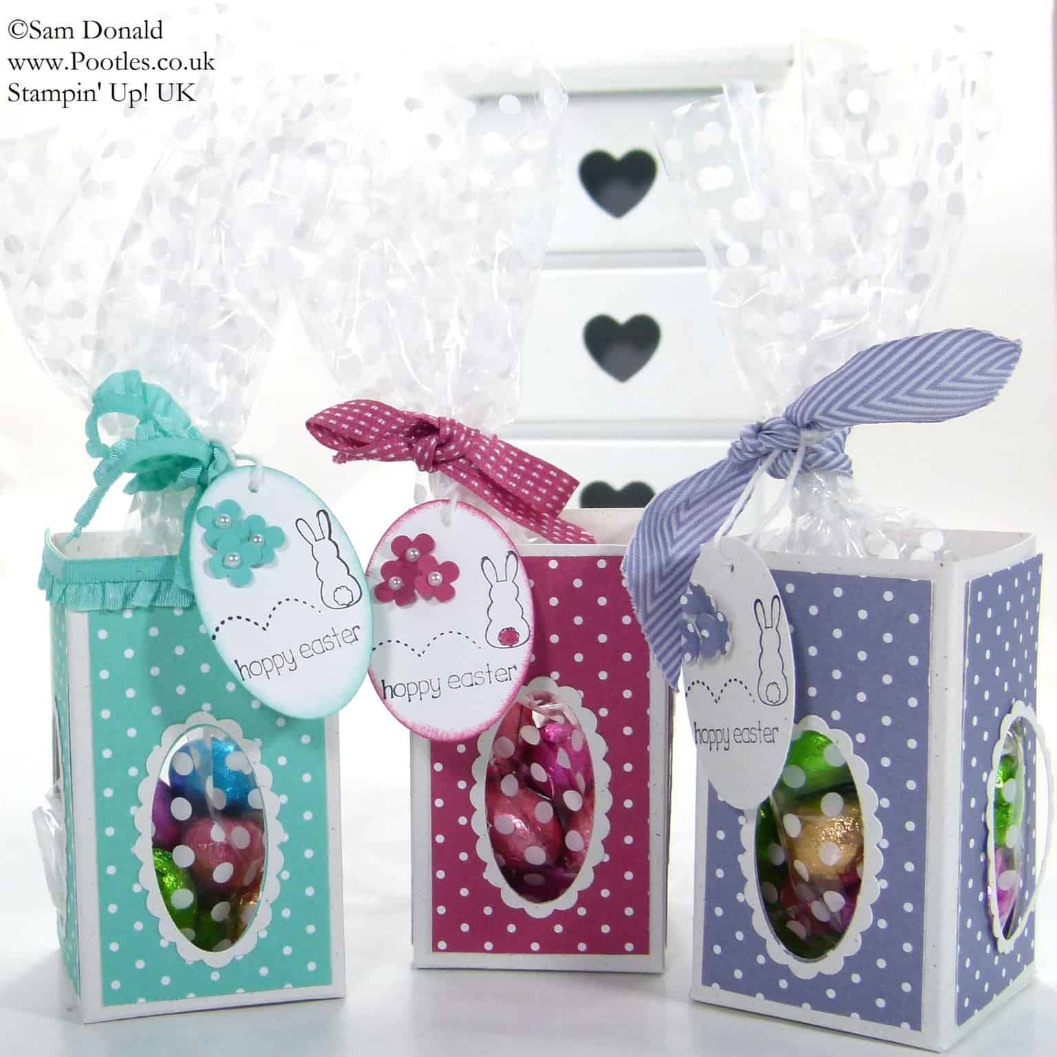 POOTLES Stampin' Up! UK Easter Window Treat Boxes 3