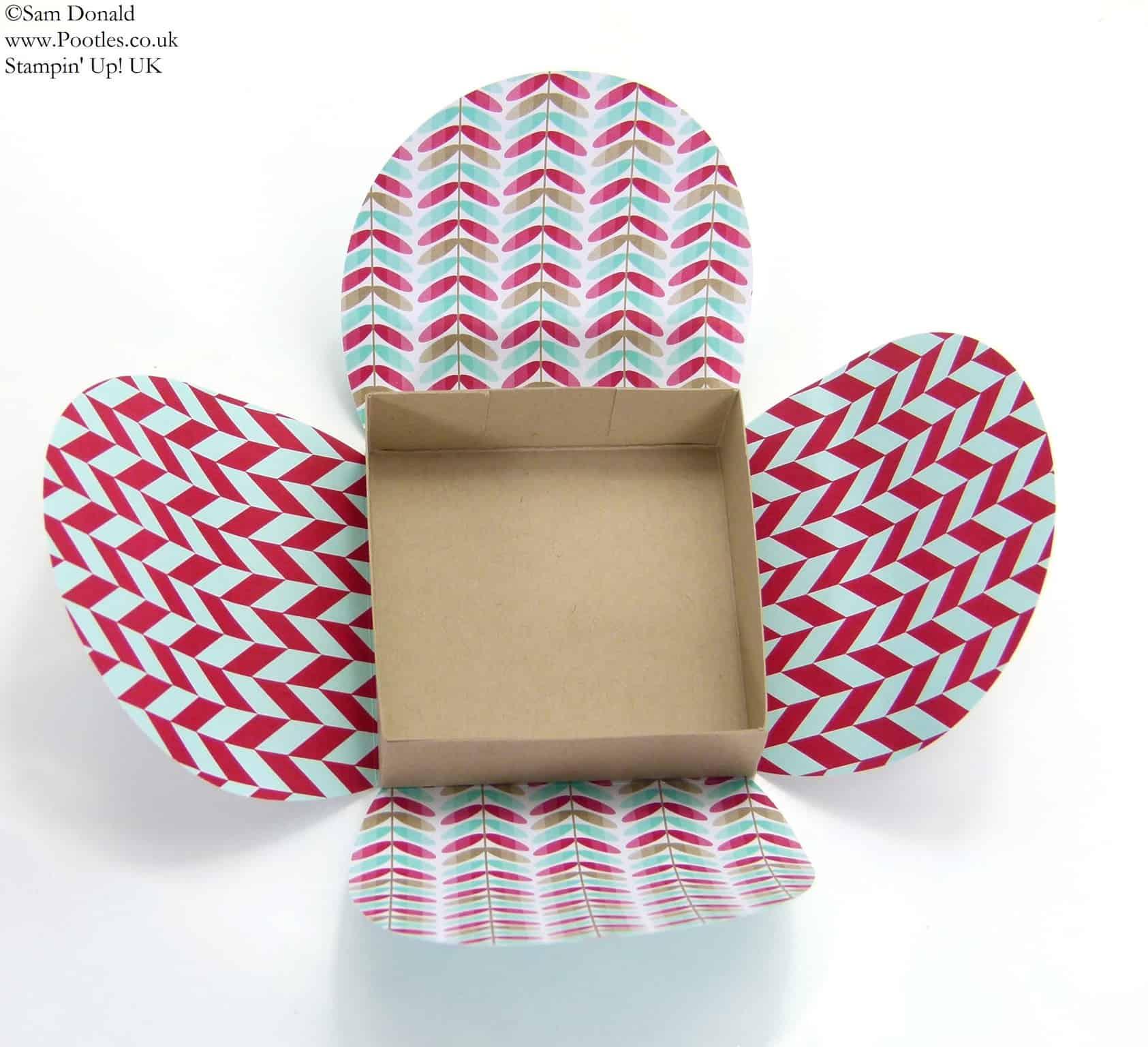 POOTLES Stampin' Up! UK Framelits Box Tutorial 2