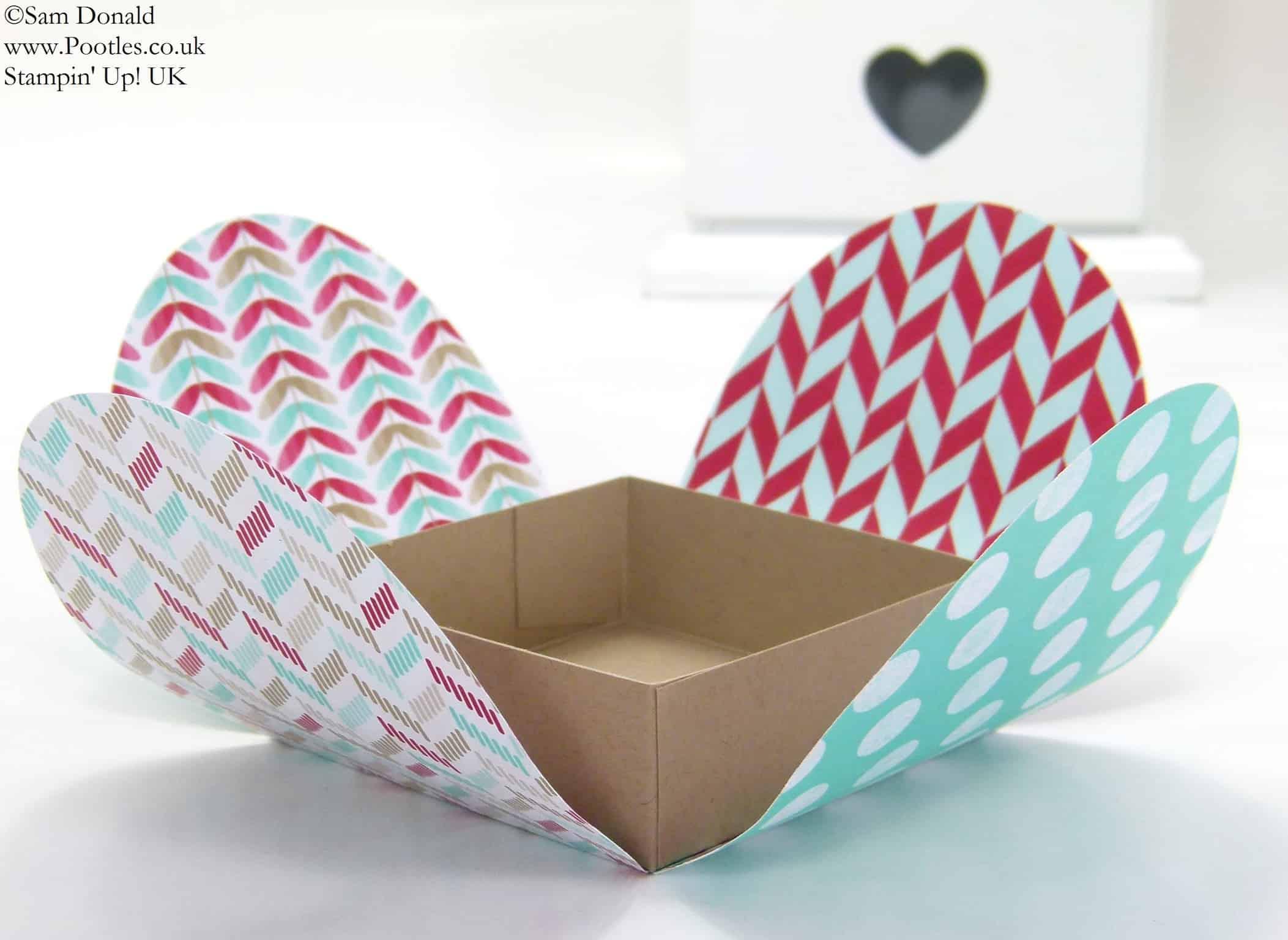 POOTLES Stampin' Up! UK Framelits Box Tutorial