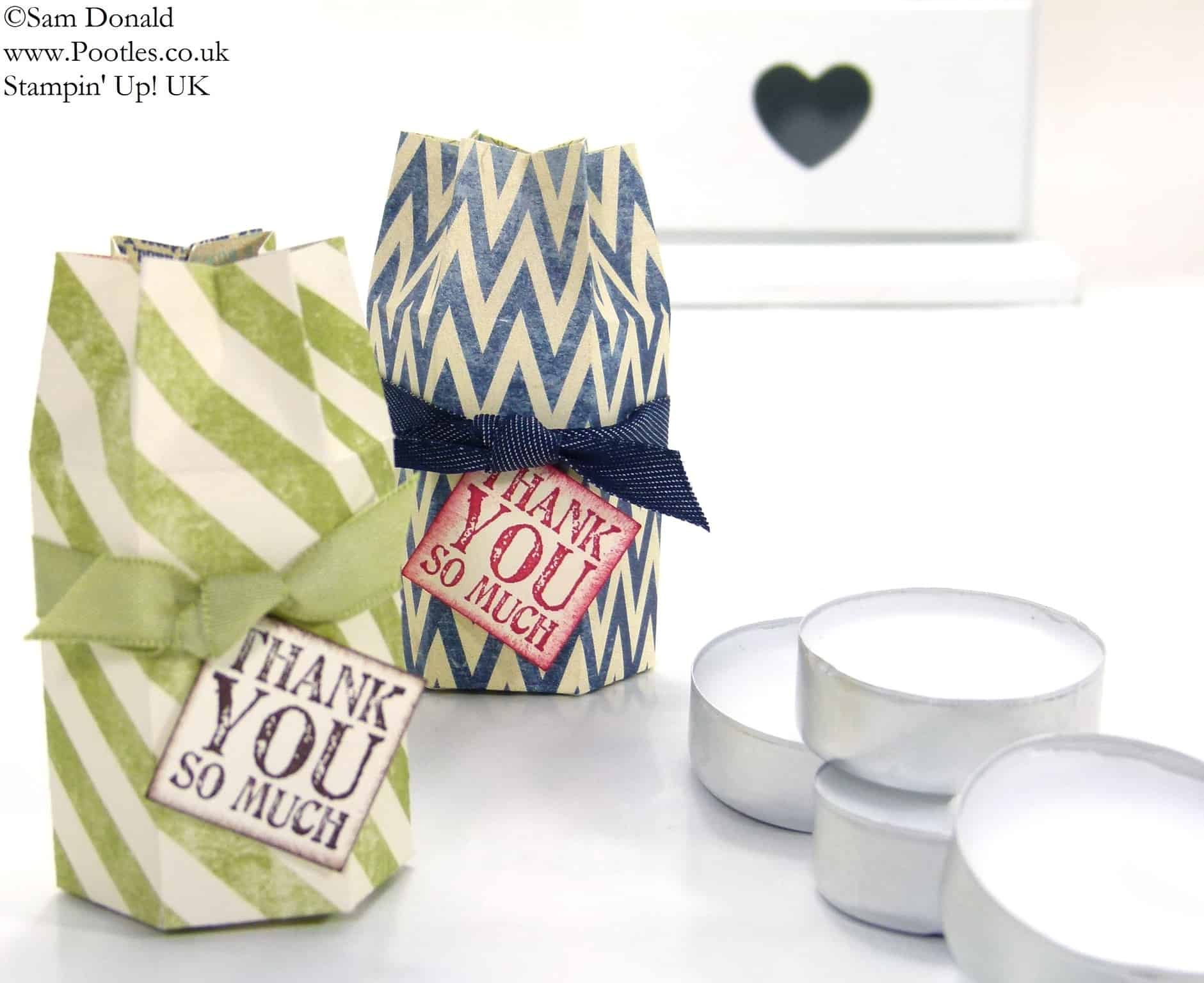 POOTLES Stampin' Up! UK Hexagon Tea Light Box Tutorial 2