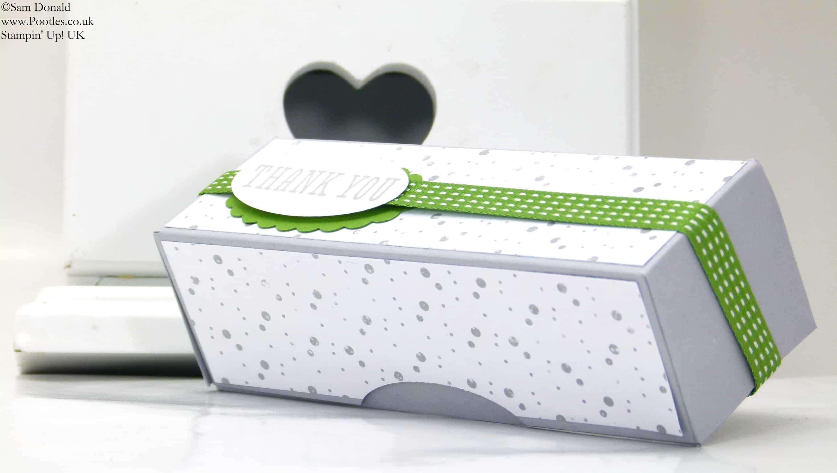 POOTLES Stampin' Up! UK Long Slender Gift Box Tutorial