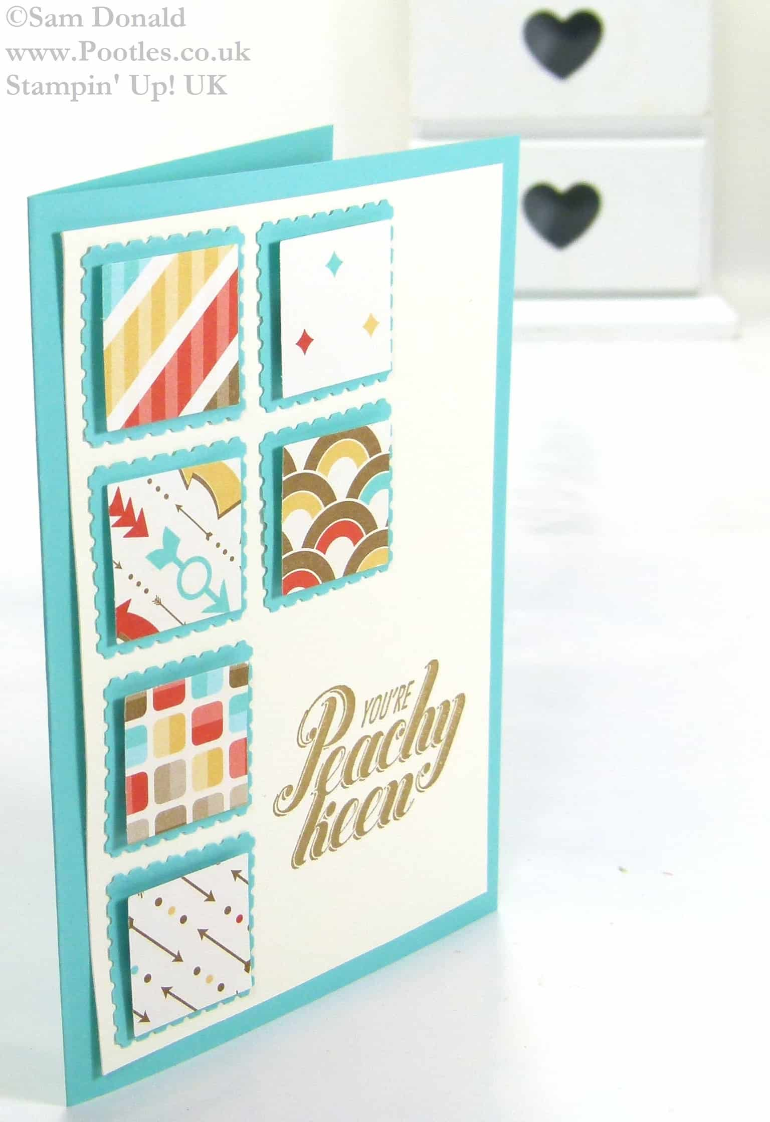 POOTLES Stampin' Up! UK Peachy Keen Retro Fresh Showcase 2