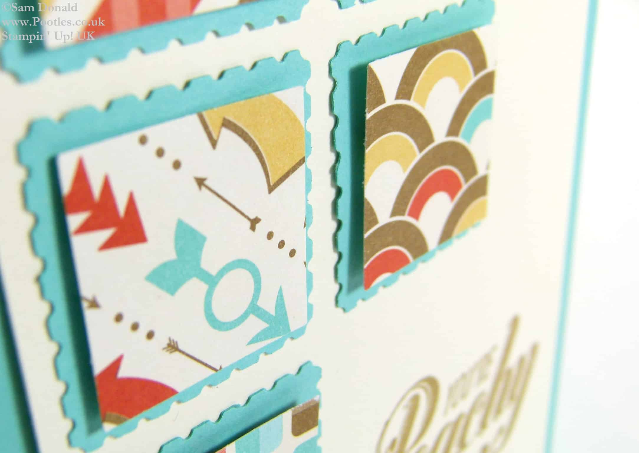 POOTLES Stampin' Up! UK Peachy Keen Retro Fresh Showcase