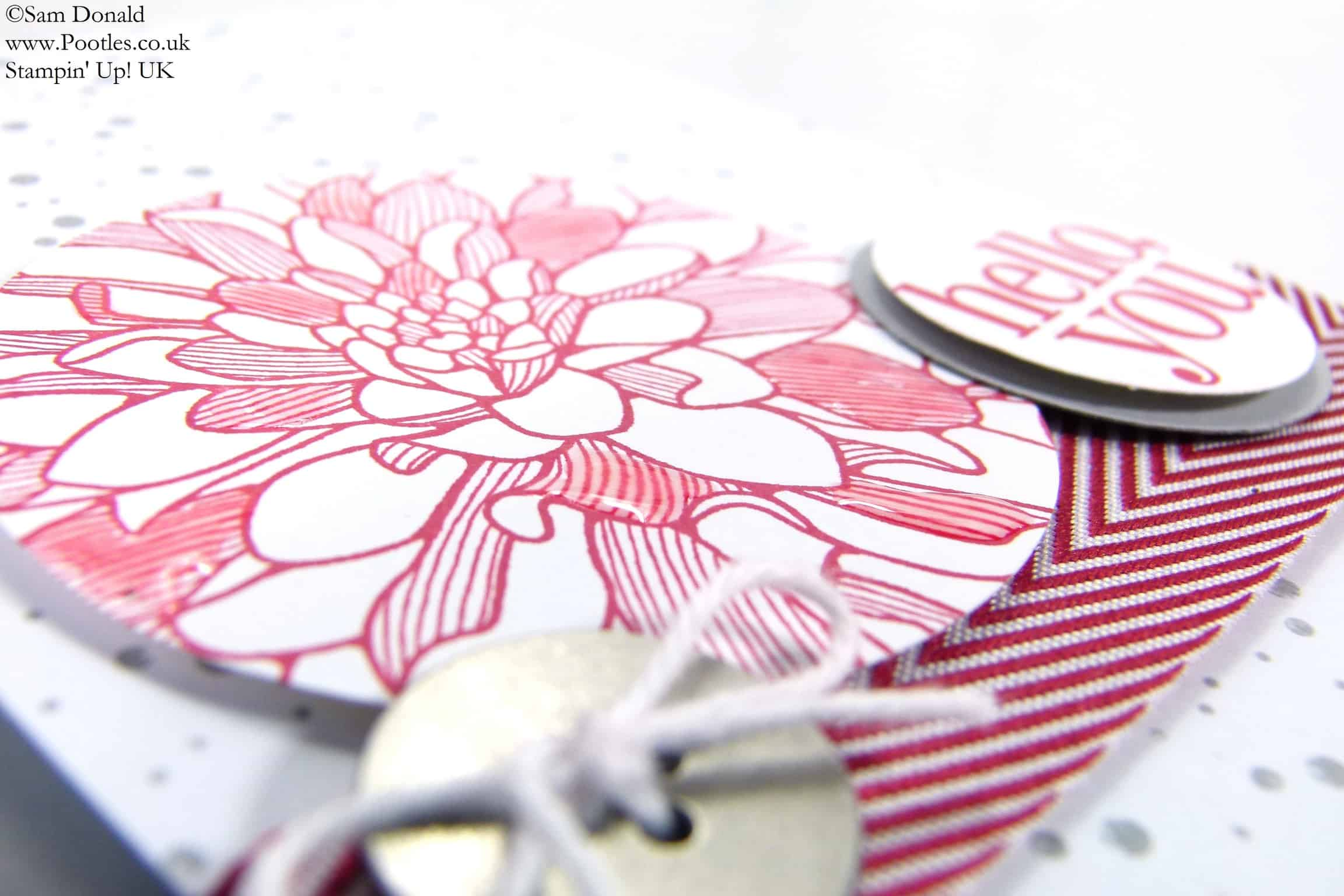 POOTLES Stampin' Up! UK Regarding Dahlias Takes on Simply Happenings!