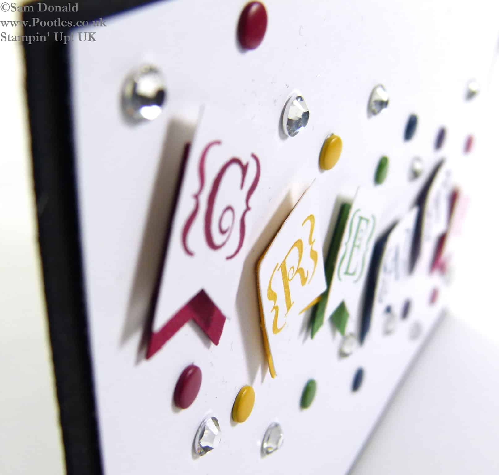 POOTLES Stampin' Up! UK Sale a Bration Banner Punch CREATE!