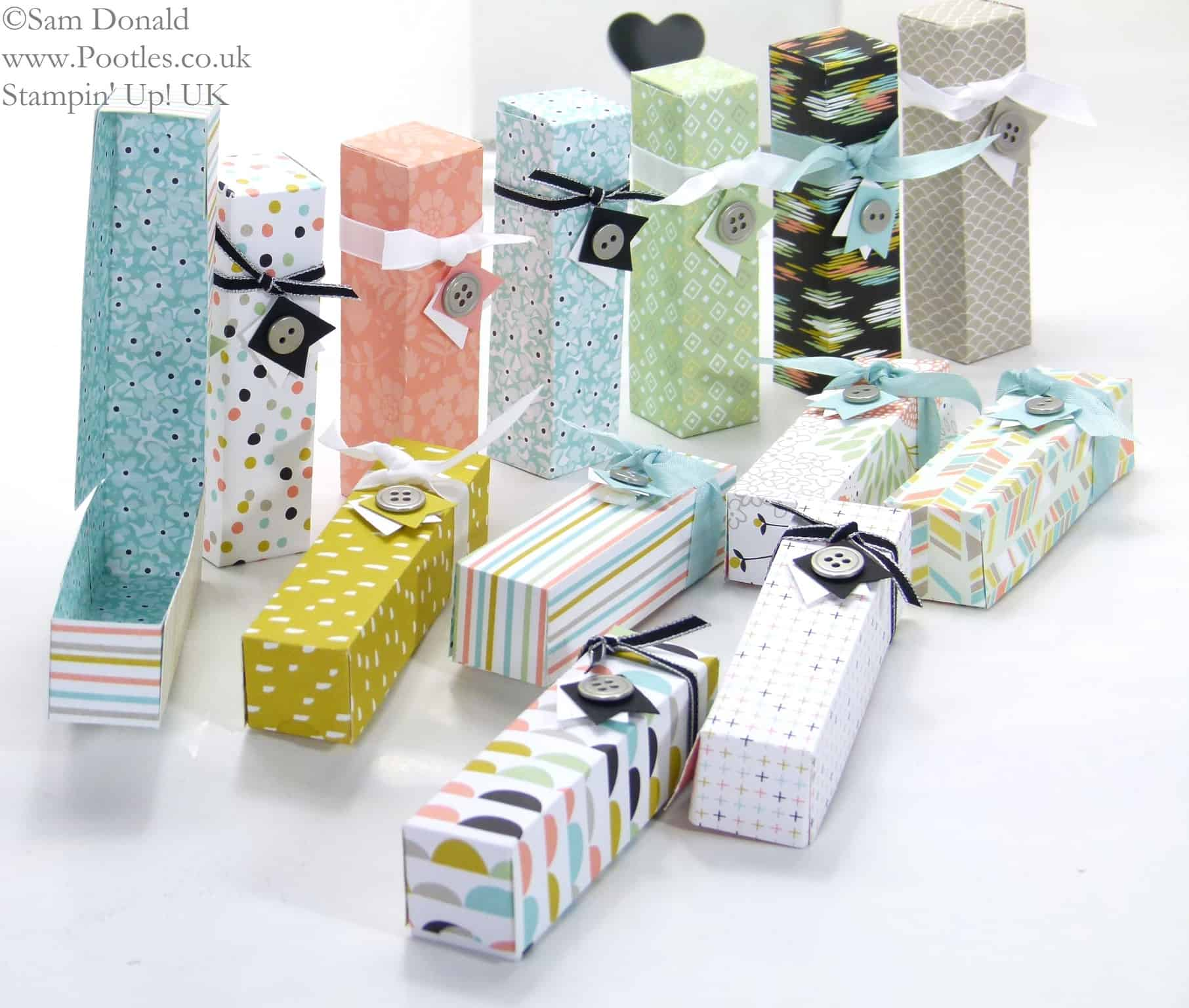 POOTLES Stampin' Up! UK Sale a Bration Dinky Boxes - Sweet Sorbet Showcase Tutorial! 2