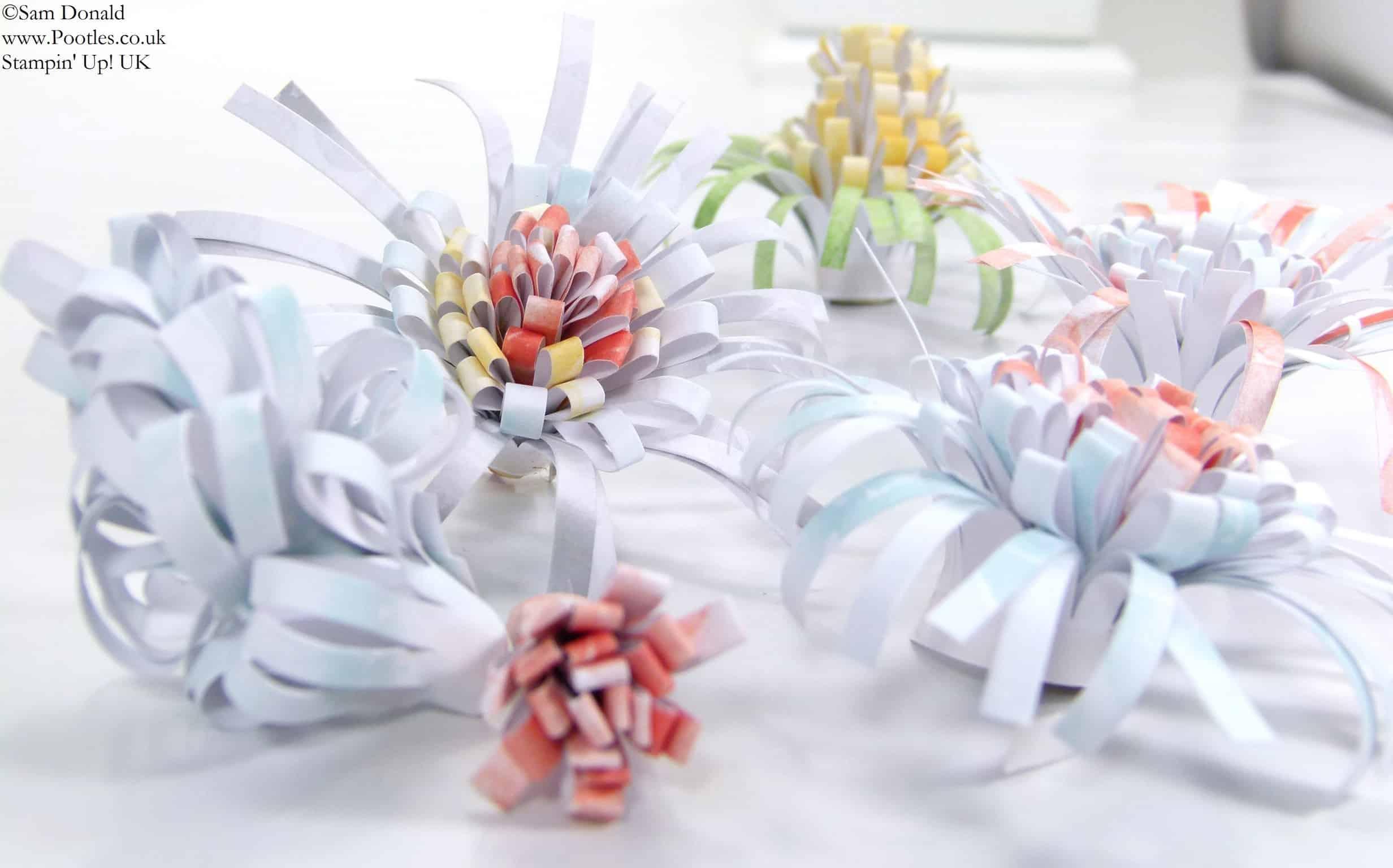 POOTLES Stampin Up UK SPRINGWATCH Burlap Blooms Upstyled Tutorial 3