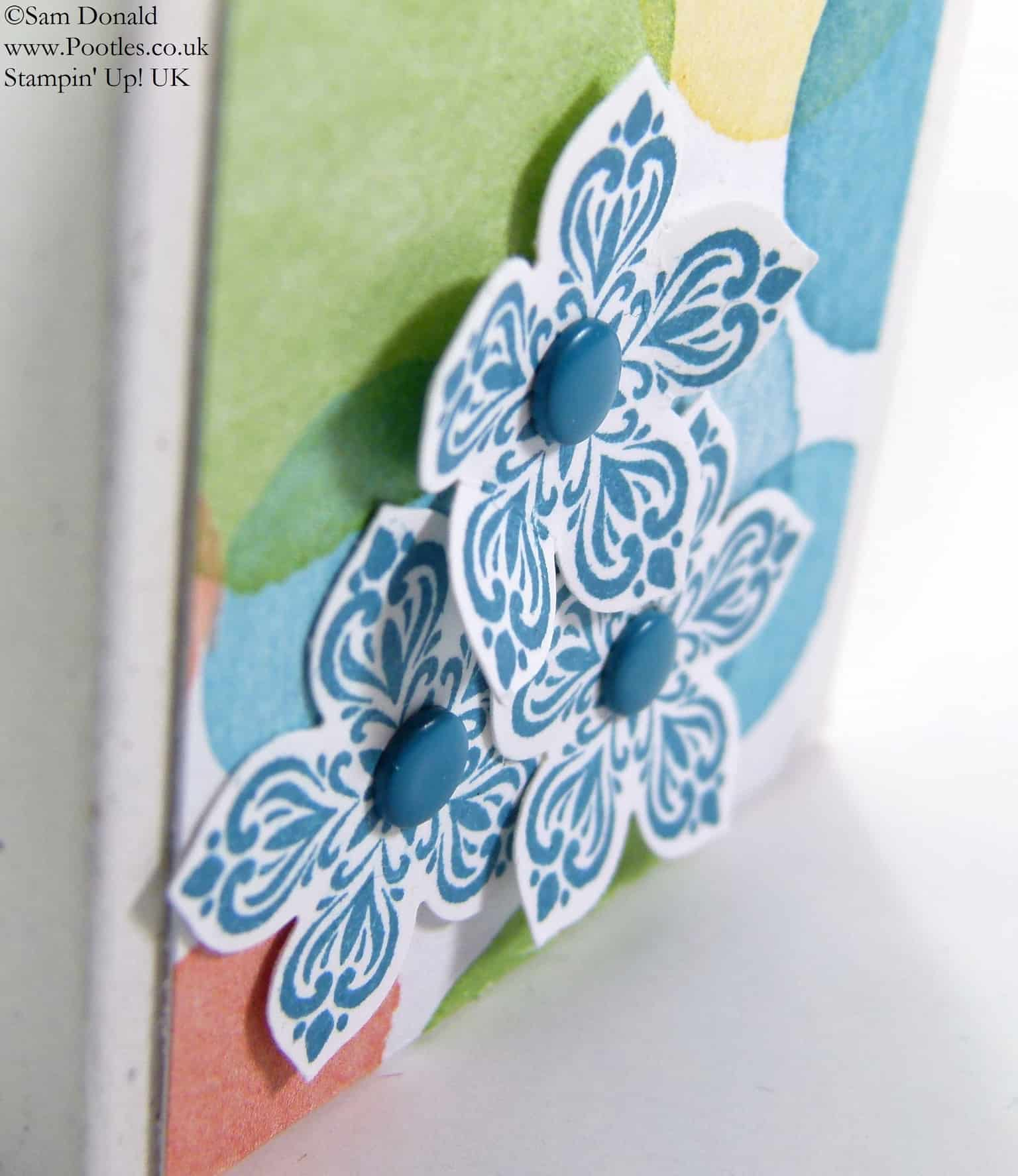 POOTLES Stampin Up UK SPRINGWATCH Fold Over Box Tutorial 2