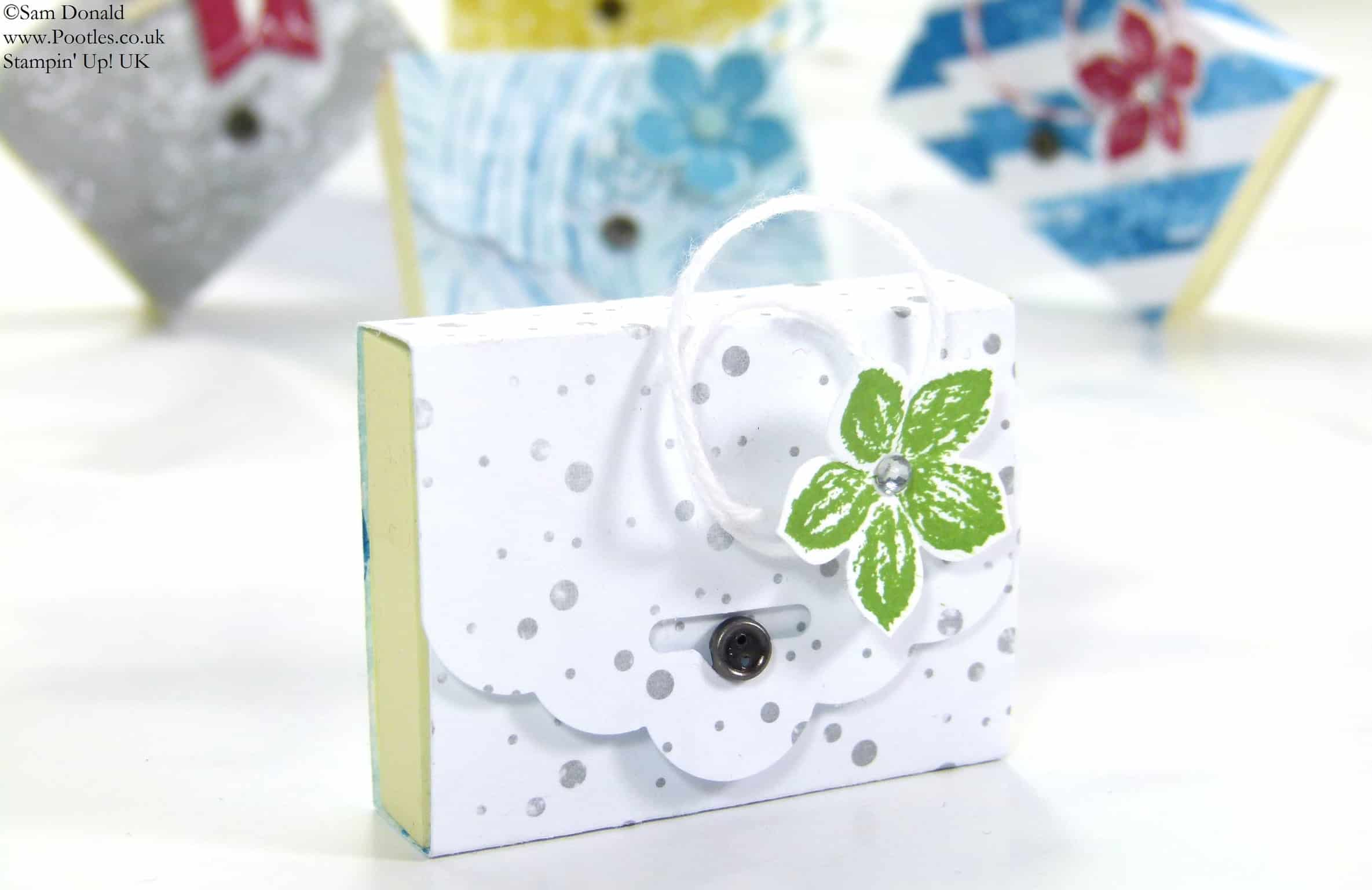 Pootles' SPRINGWATCH Tag Topper Punch Mini Post It Notes Tutorial