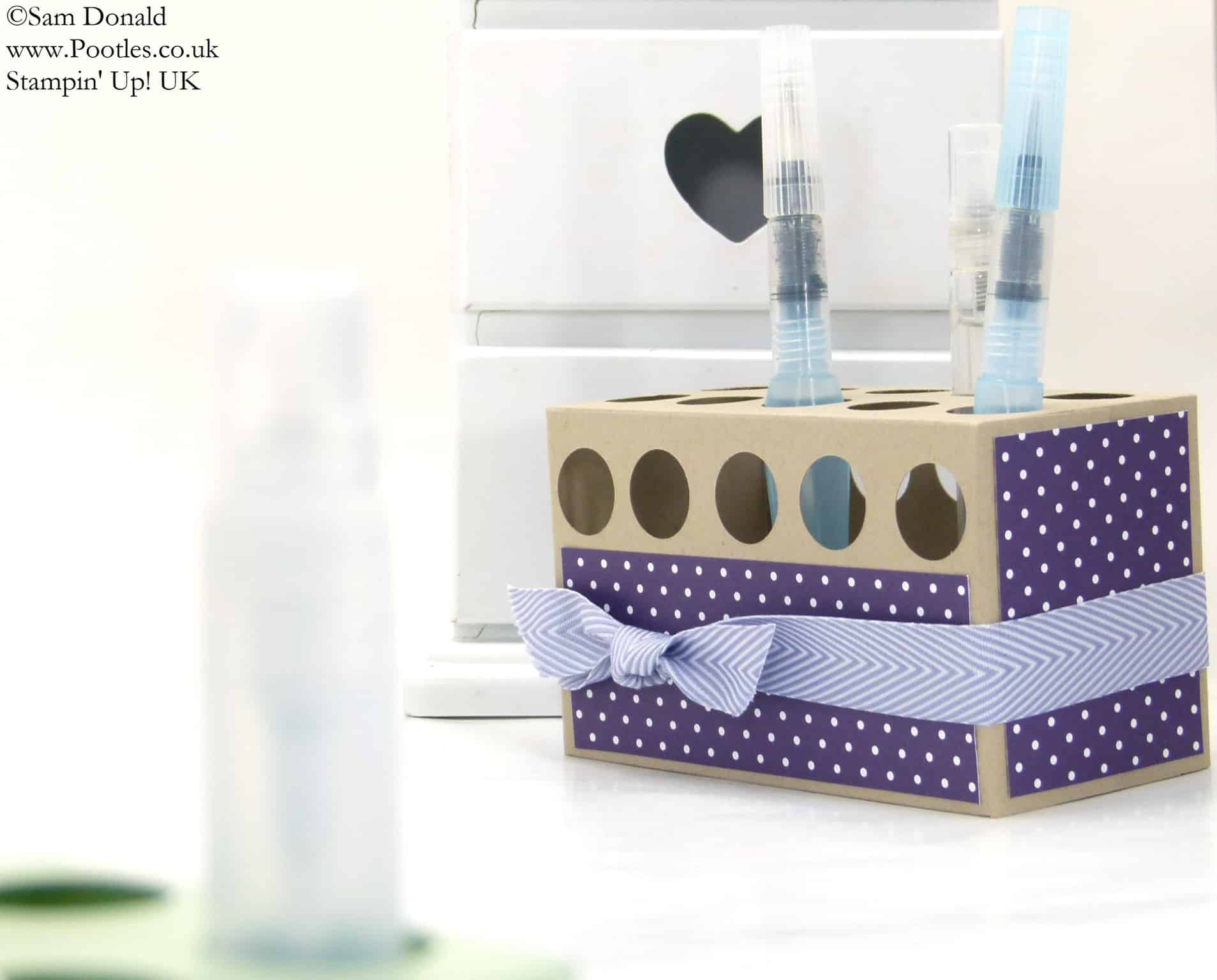 POOTLES Stampin' Up! UK Stampin' Spritzer Holder Tutorial 2